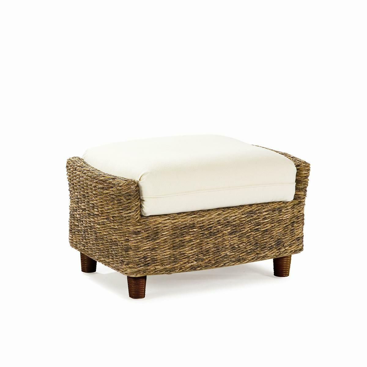 Tangiers Ottoman with Cushion Fabric: Spectrum Kiwi