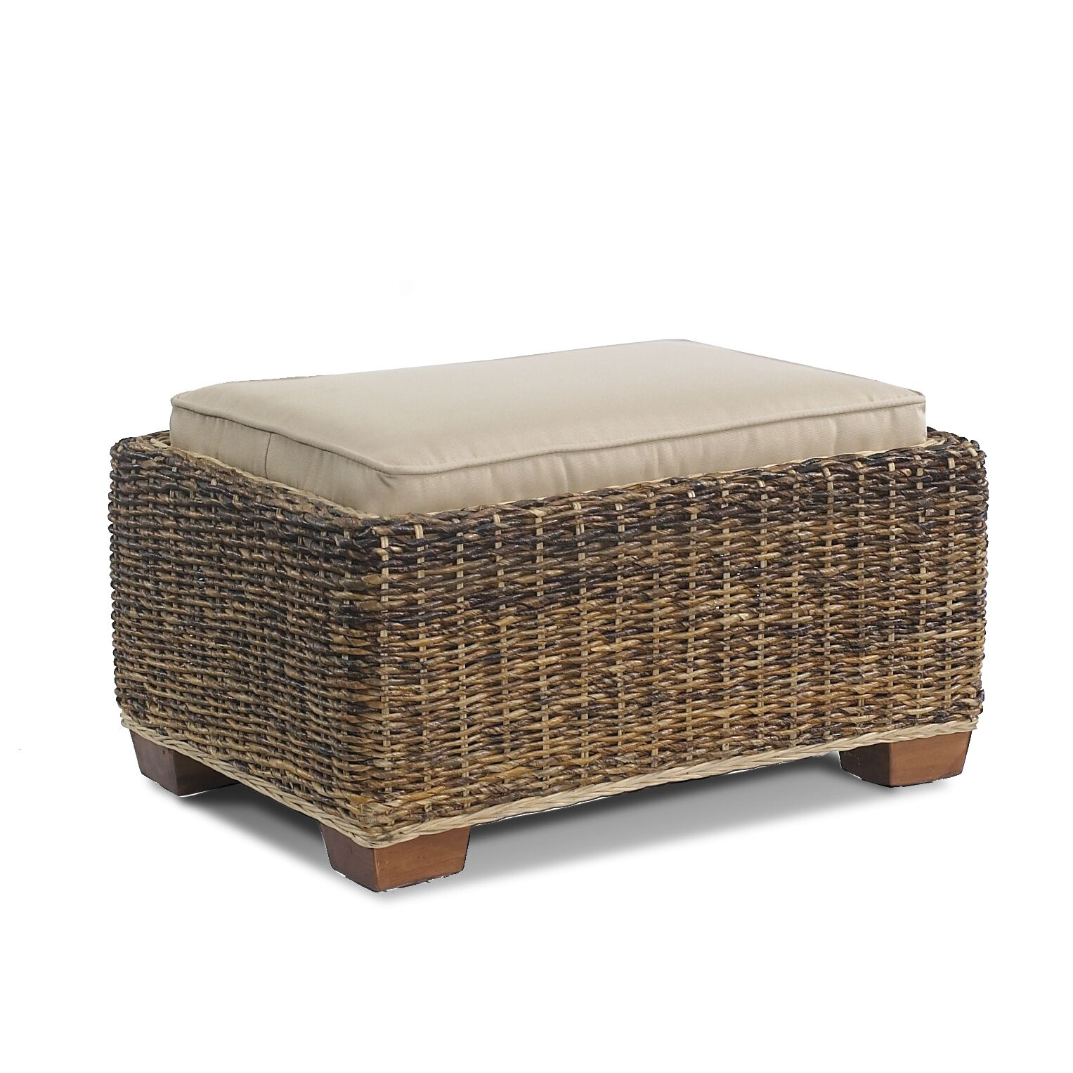 St. Kitts Ottoman with Cushion Fabric: Spectrum Dove