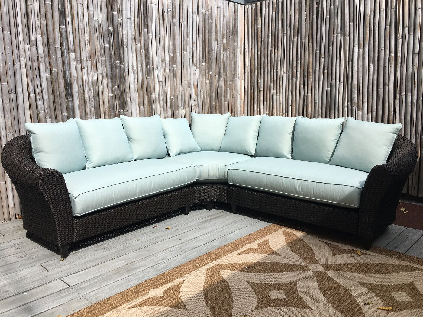 Vickey Outdoor Patio Sectional with Cushions Color: Mist
