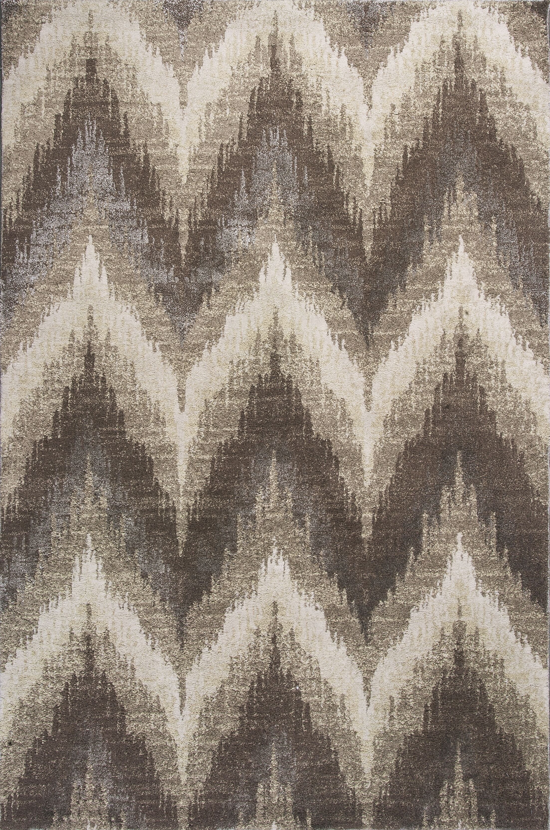 Timeless Champagne Chevron Area Rug Rug Size: Rectangle 7'7