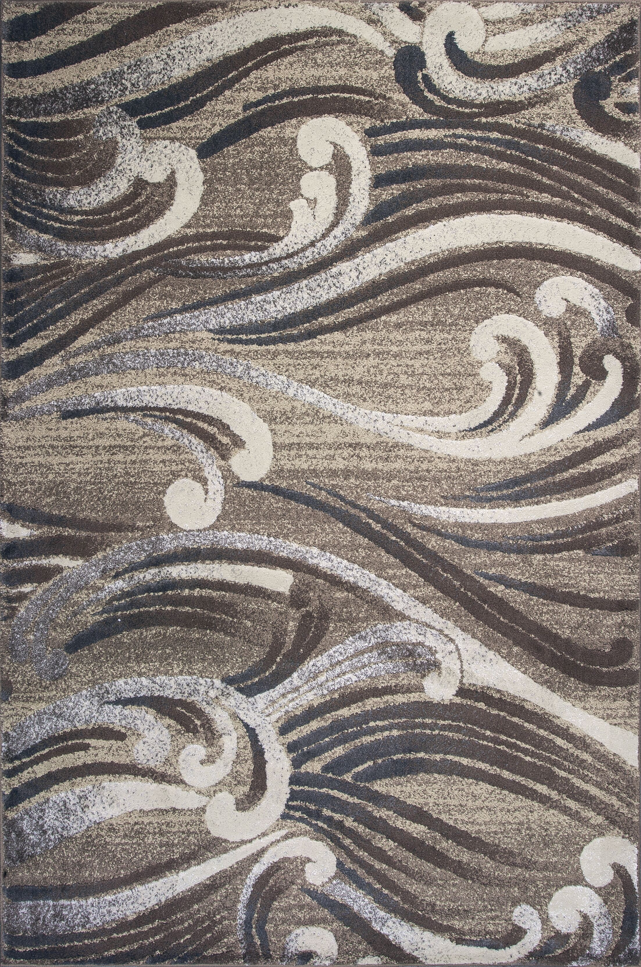 Timeless Natural Scrolls Area Rug Rug Size: Rectangle 9' x 13'