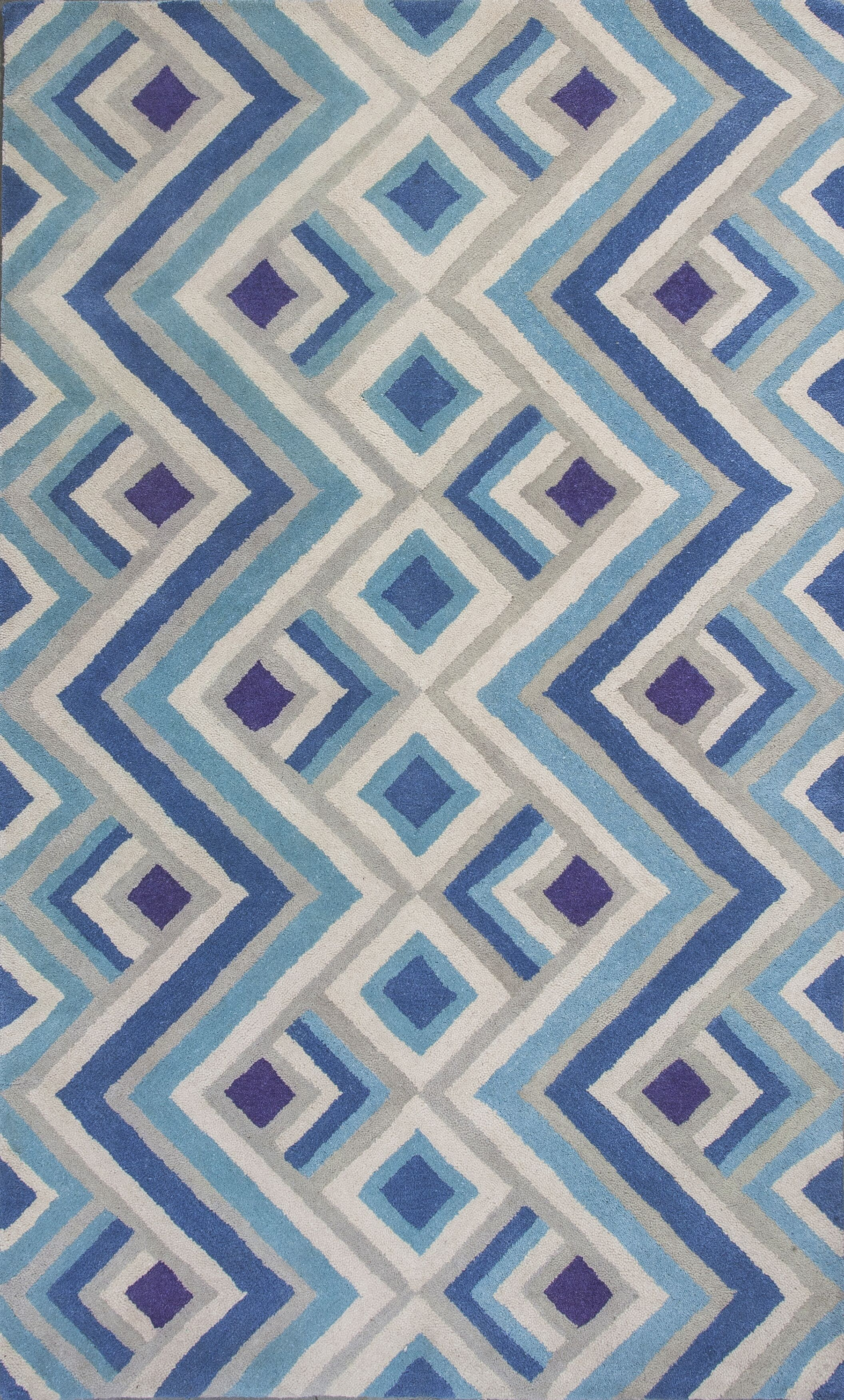 Harmony Ivory/Blue Area Rug Rug Size: Rectangle 3'3