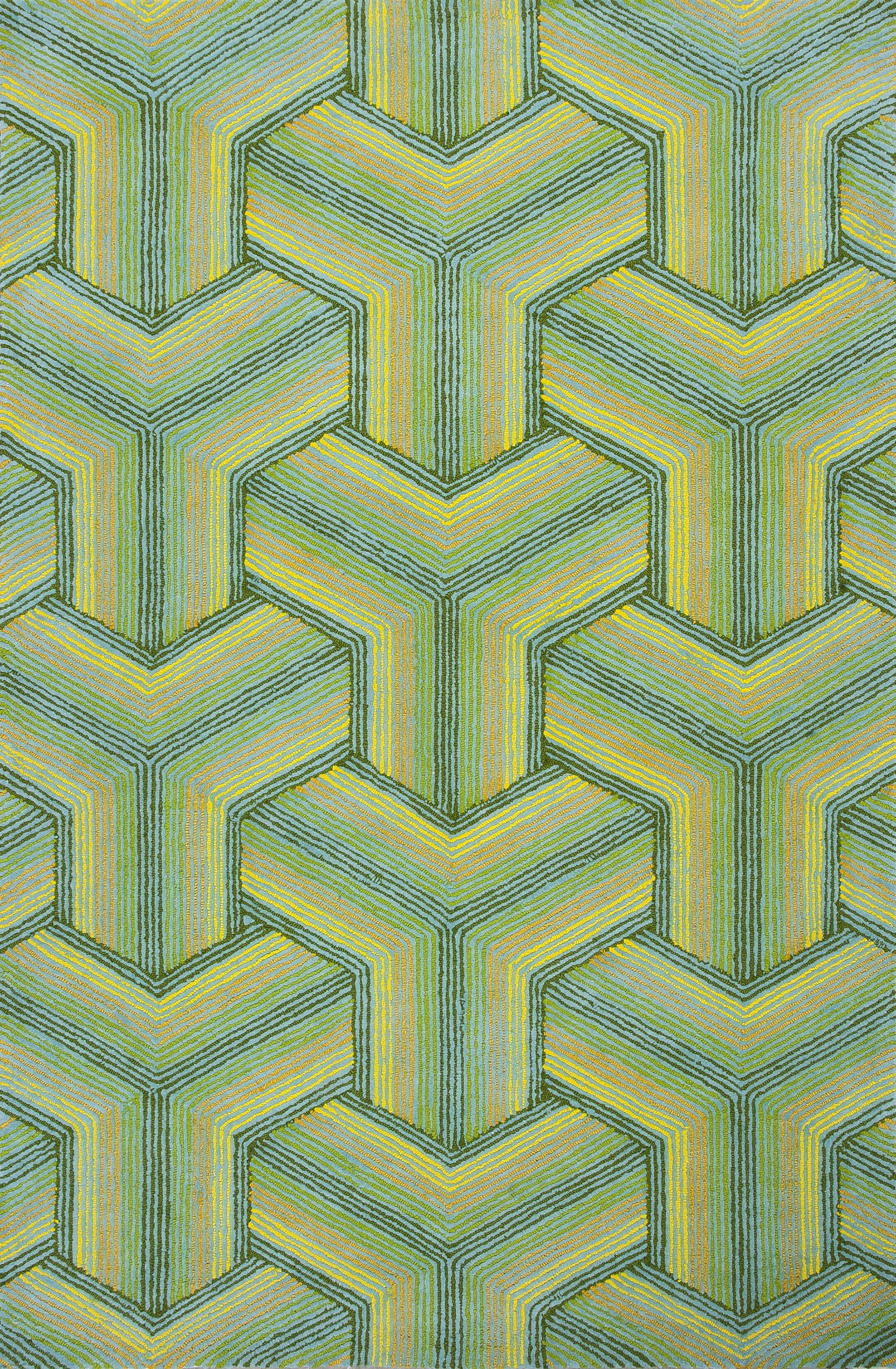 Donny Osmond Home Escape Handmade Green Area Rug Rug Size: Rectangle 3'3