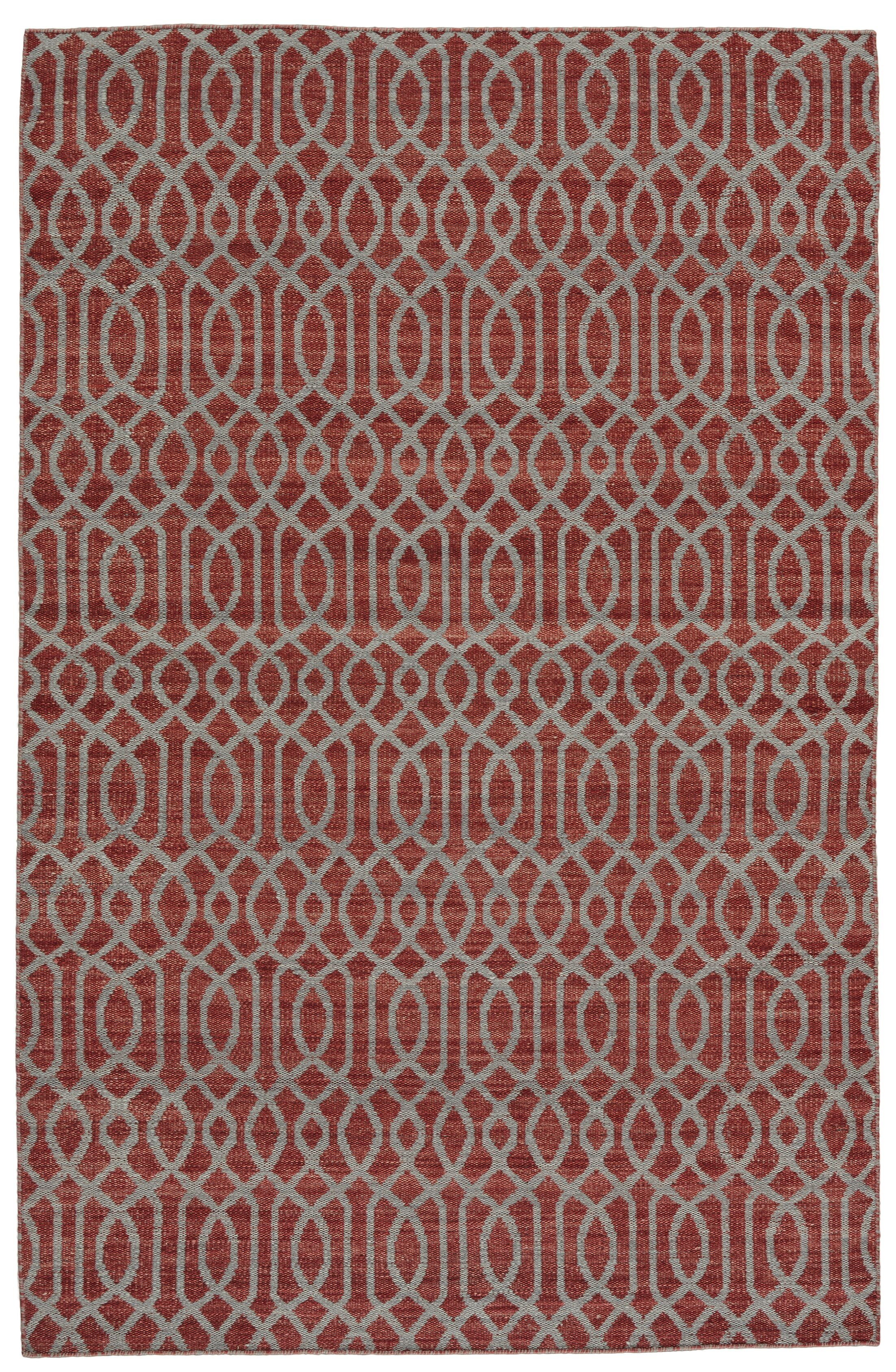 Bannerdown Hand-Loomed Red Area Rug Rug Size: Rectangle 8' x 10'