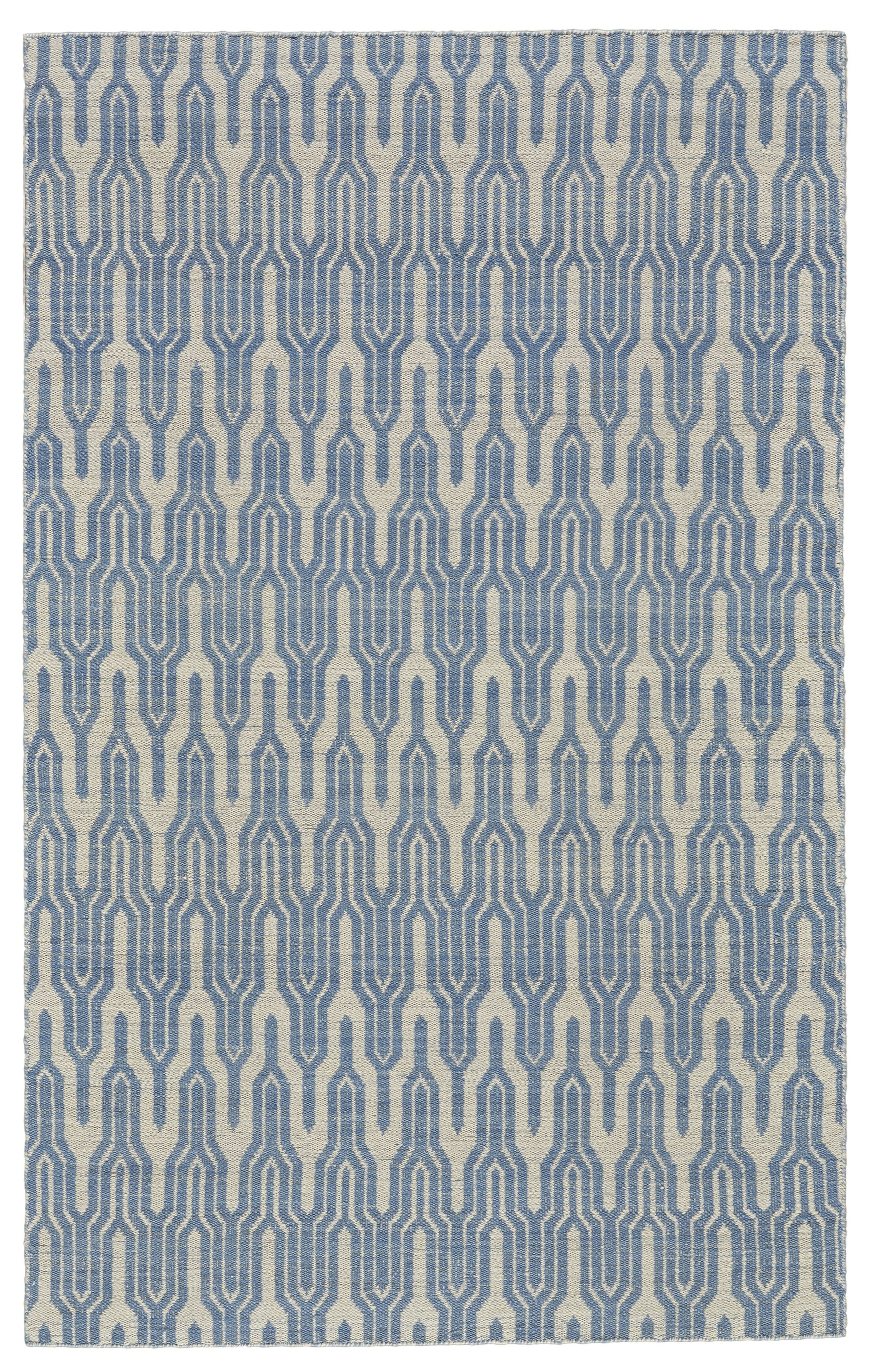 Hallock Hand-Loomed Light Blue Area Rug Rug Size: Rectangle 8' x 10'