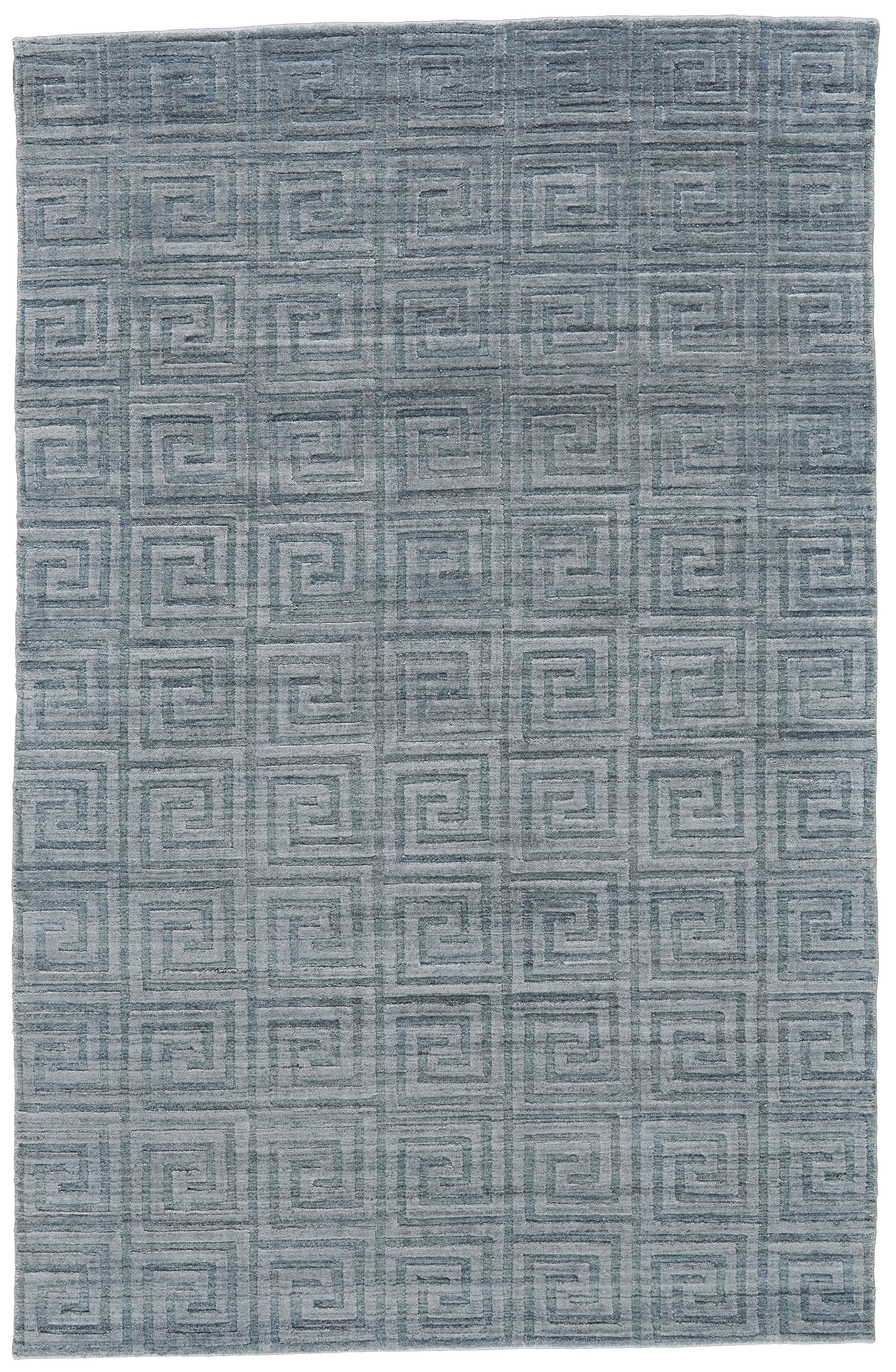 Halpern Hand-Loomed Turquoise Area Rug Rug Size: Rectangle 5' x 8'
