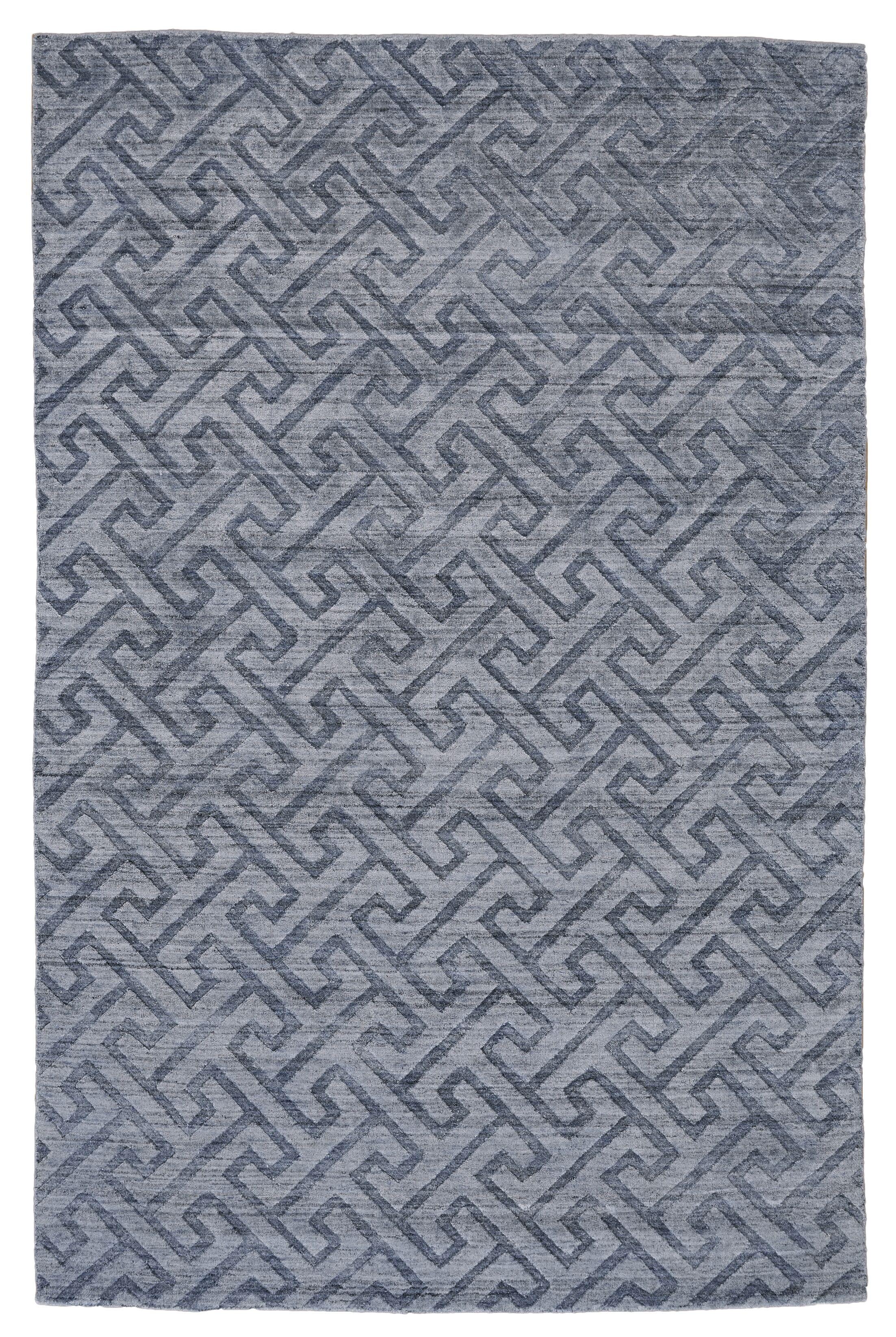Halpern Hand-Tufted Blue Area Rug Rug Size: Rectangle 4' x 6'