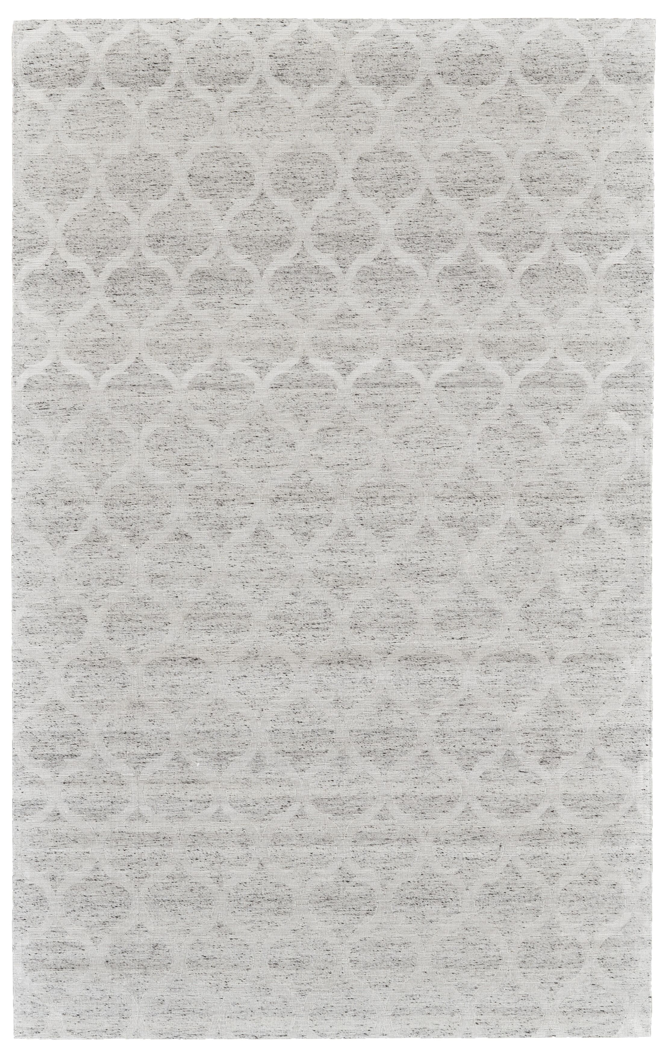 Brainard Hand-Woven Gray/White Area Rug Rug Size: Rectangle 4' x 6'