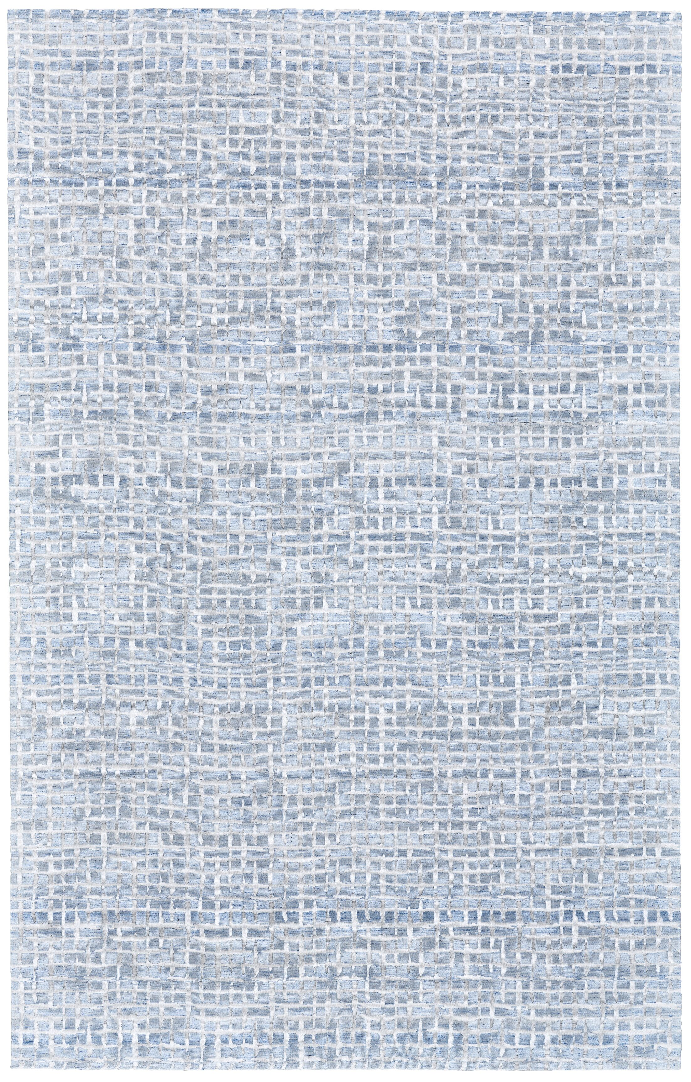 Jarice Hand-Woven White/Blue Area Rug Rug Size: Rectangle 4' x 6'