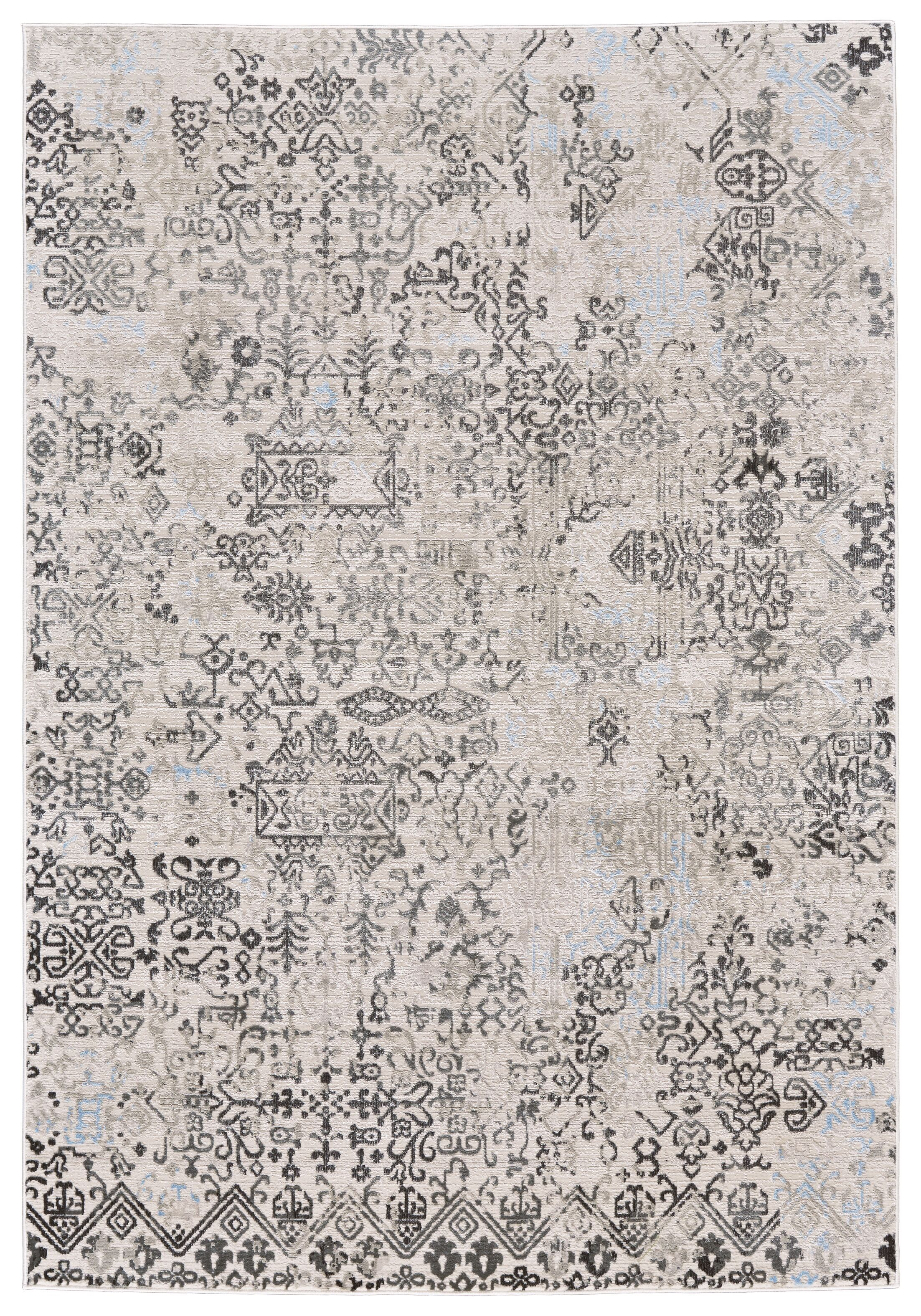 Oldenzaal White/Birch Area Rug Rug Size: Rectangle 5' x 8'