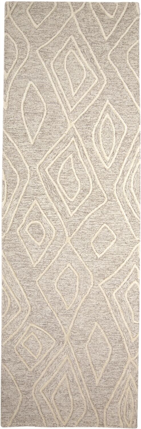 Grider Hand-Tufted Wool Ivory/Natural Area Rug Rug Size: Runner 2'6