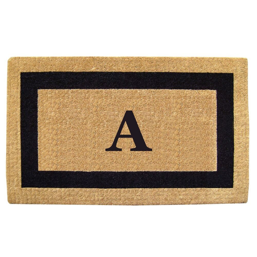 Heavy Duty Coco Single Picture Frame Monogrammed Door Mat