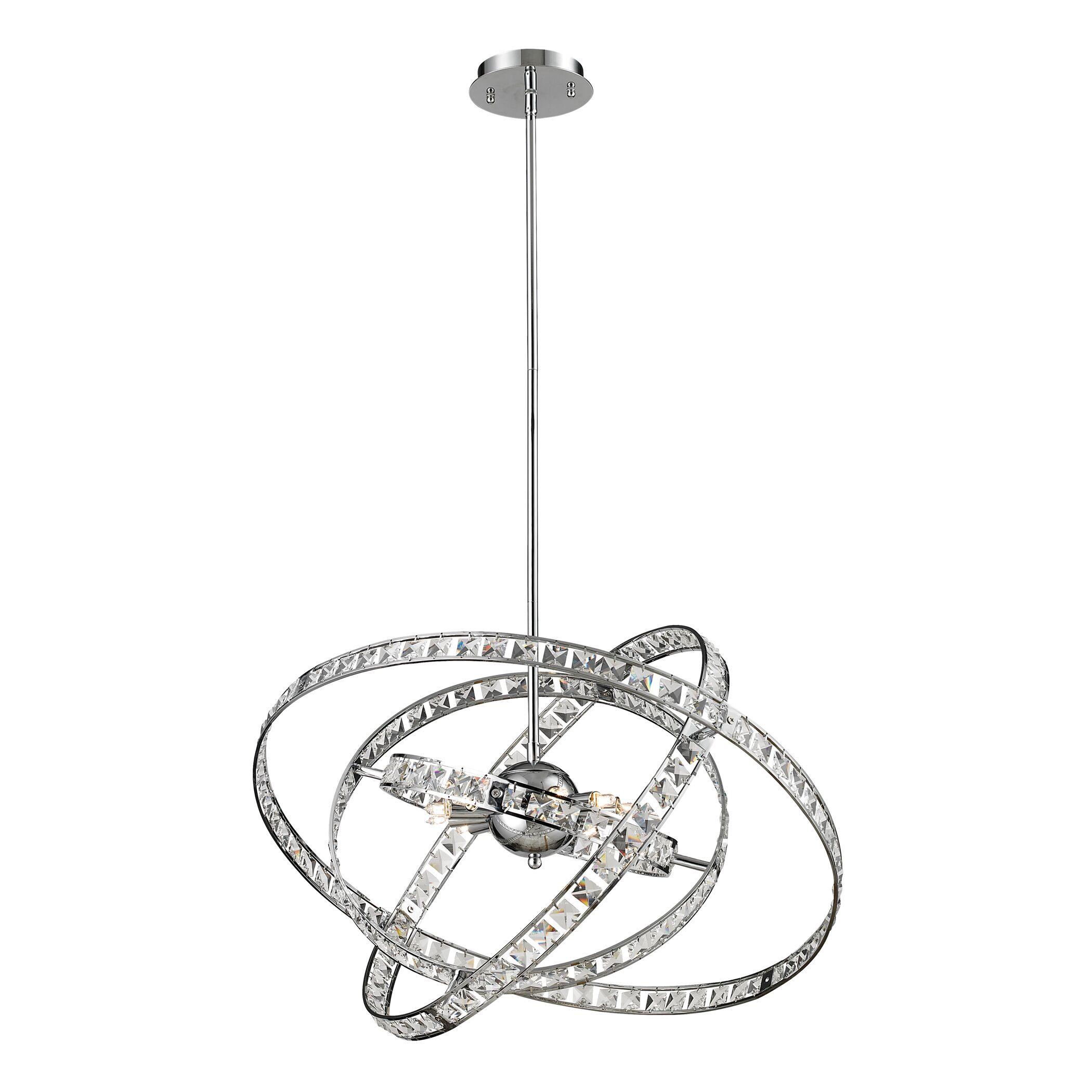 Cervantes 6-Light Geometric Chandelier