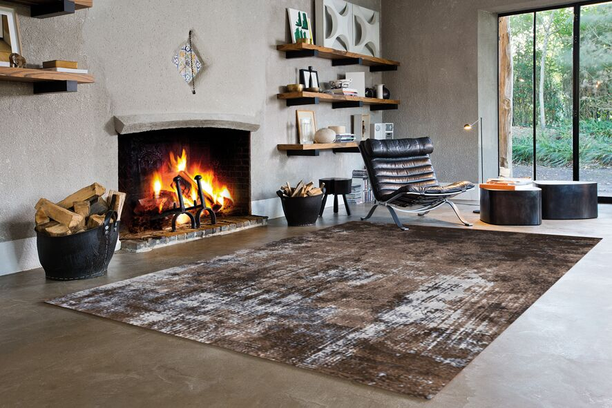 Willow Acid Wash Brown Area Rug Rug Size: 6'7