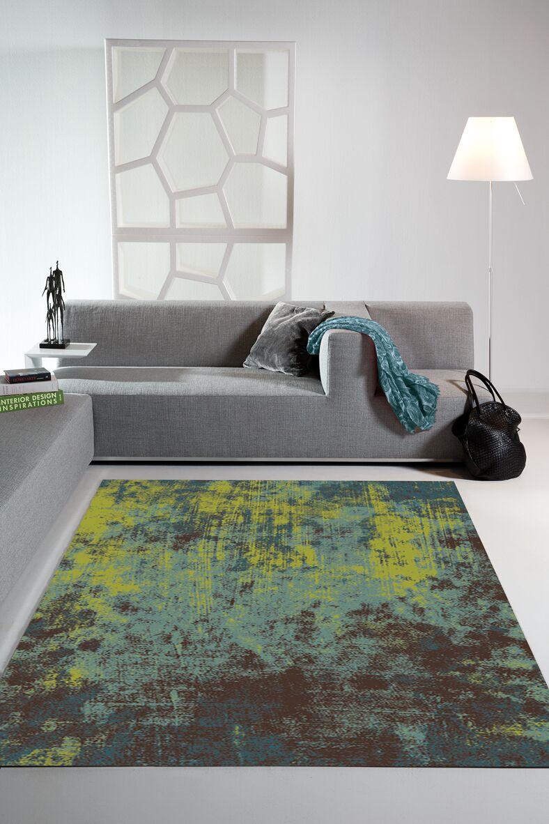 Ballantyne Acid Wash Green Area Rug Rug Size: 6'7