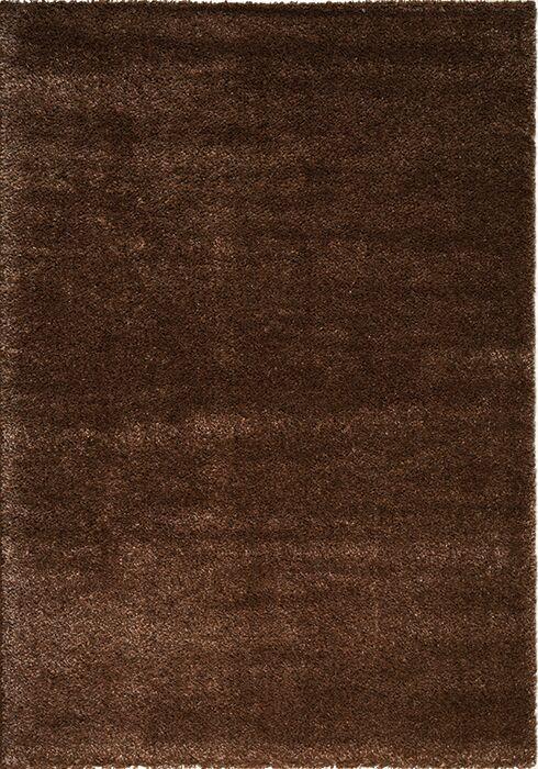 Stanley Glitz Low Pile Dark Brown Area Rug Rug Size: 7'10