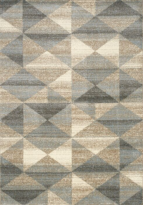Casa Grey/Taupe Area Rug Rug Size: Rectangle 7'10