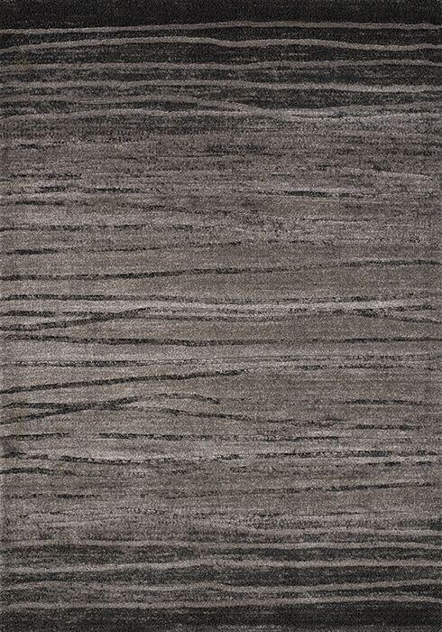Macedon Black/Grey Birch Stripes Rug Rug Size: Rectangle 5'3
