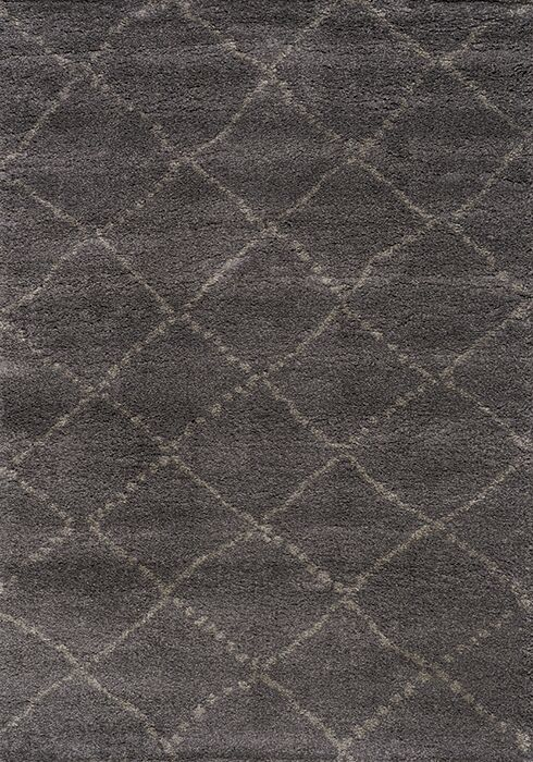 Jannie Charcoal/Light Gray Area Rug Rug Size: 5'3