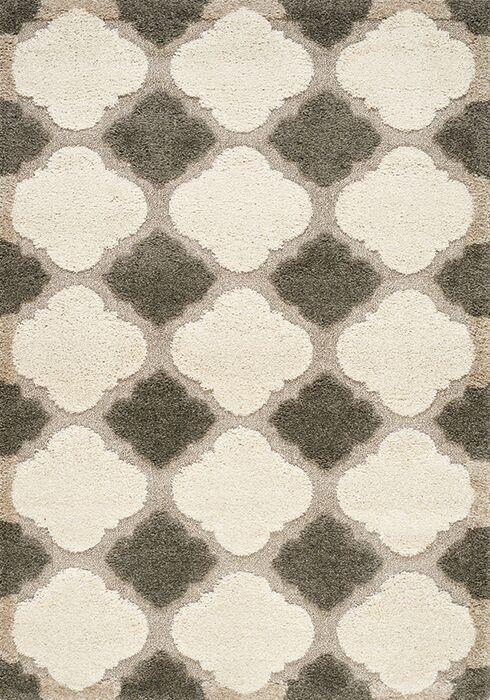 Besser Gray/Cream Area Rug Rug Size: Rectangle 5'3