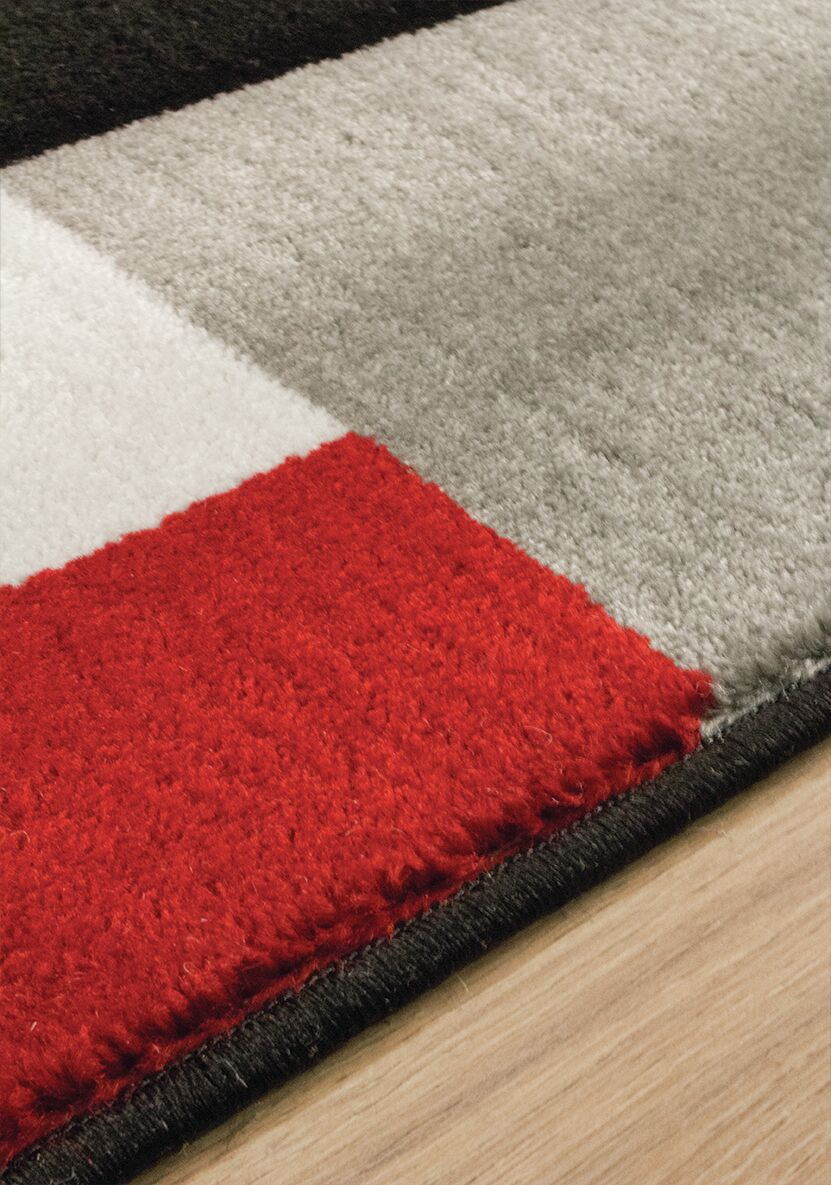 Absecon Red/Black Area Rug Rug Size: Rectangle 5'3