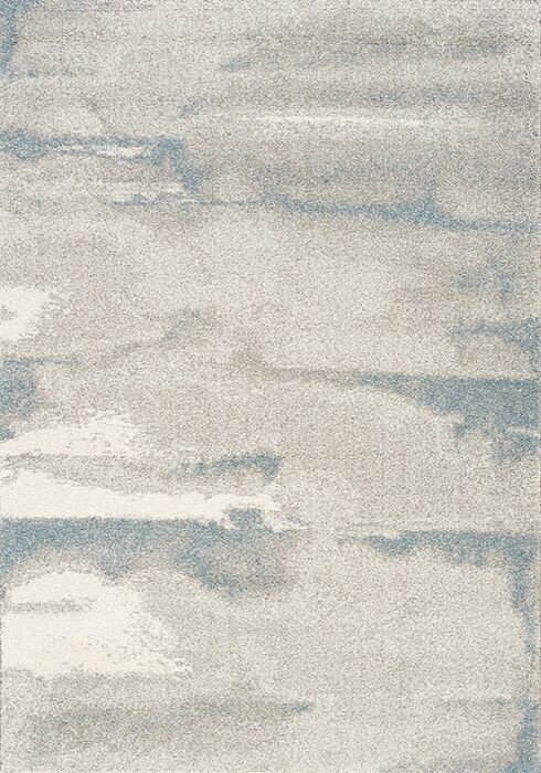 Kara Cream/Blue Area Rug Size: Rectangle 5'3