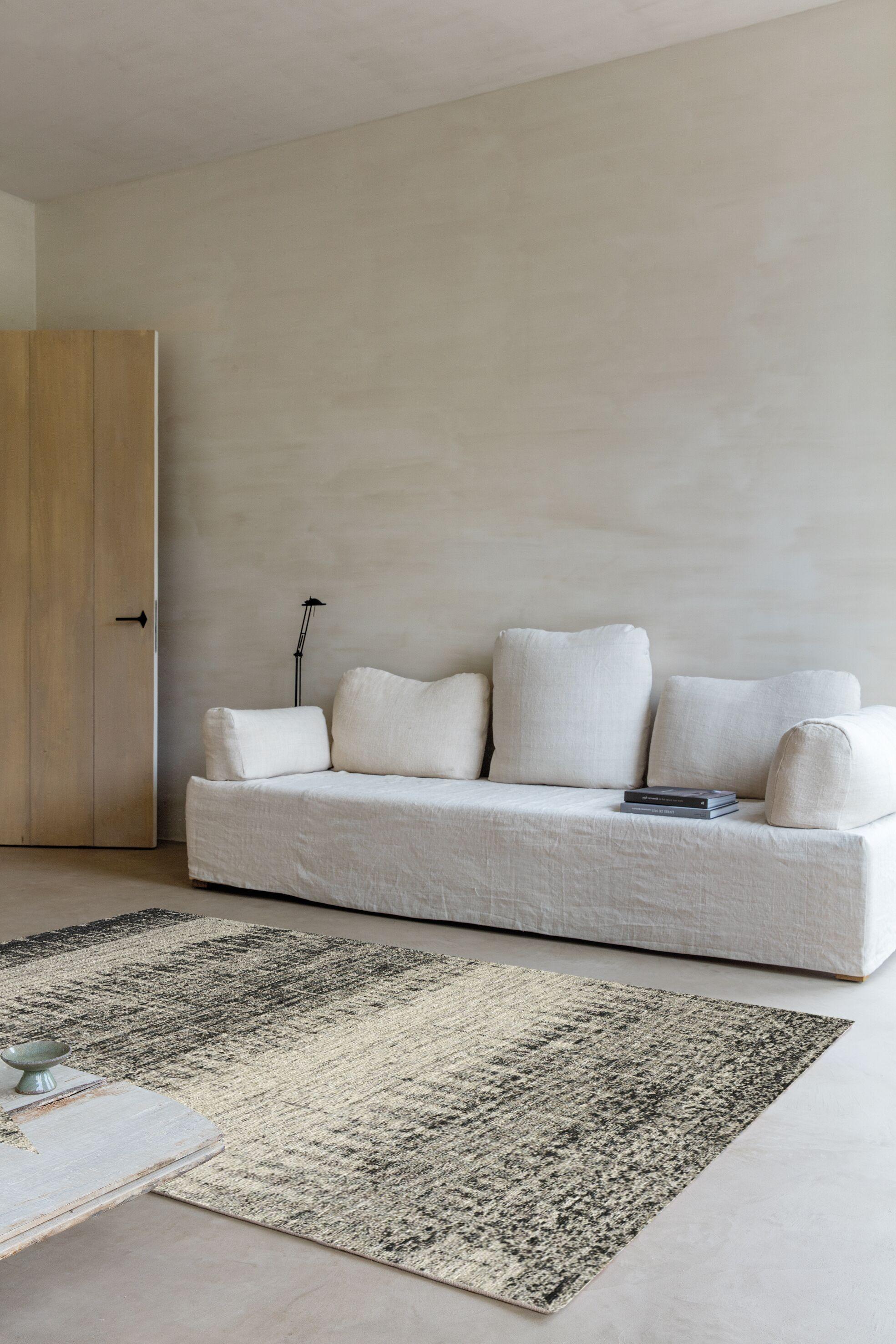 Roseau Grey Blurred Lines Rug Rug Size: 7'6