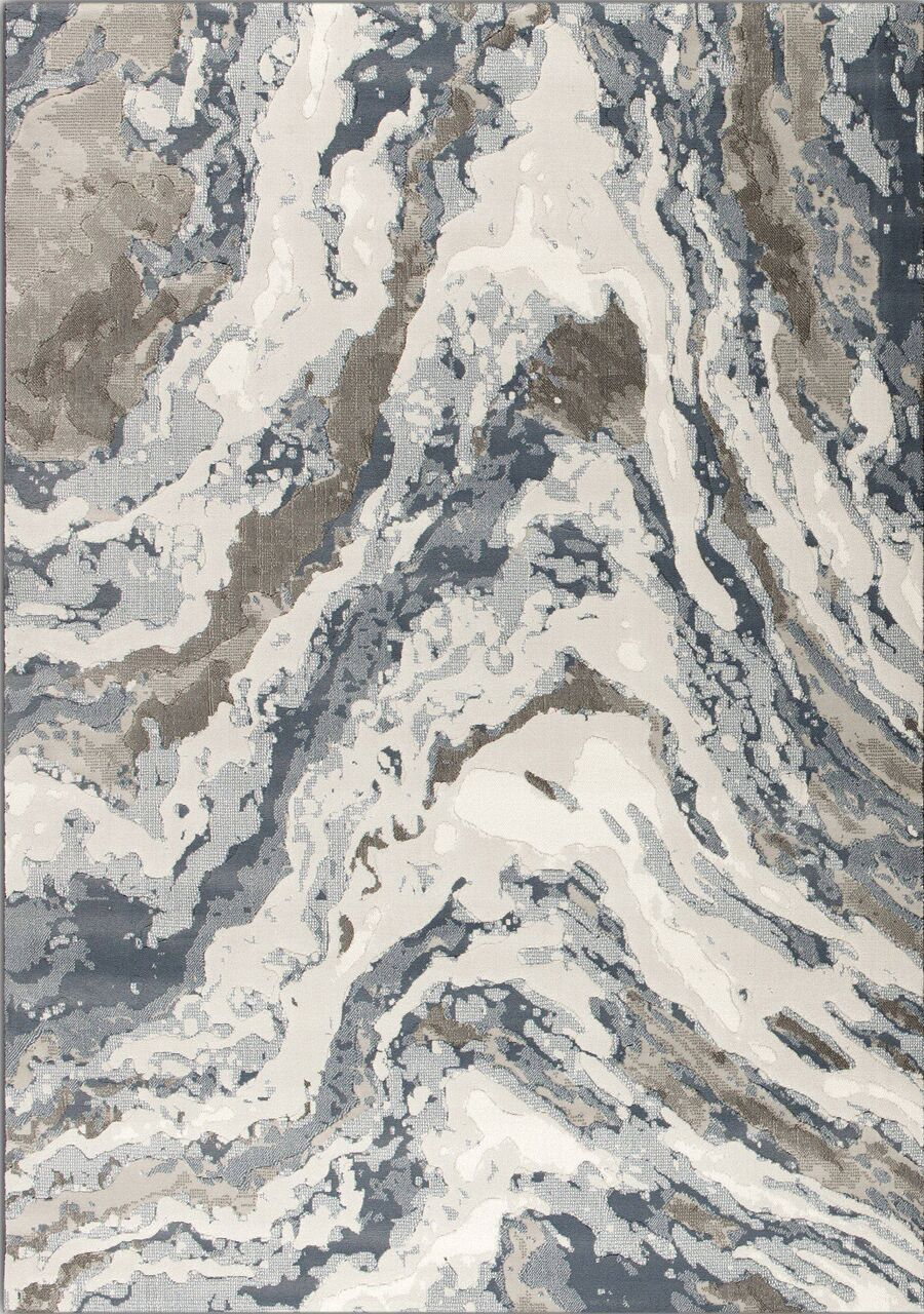 Lilith Rushing Water Beige/Blue Area Rug Rug Size: 5'3