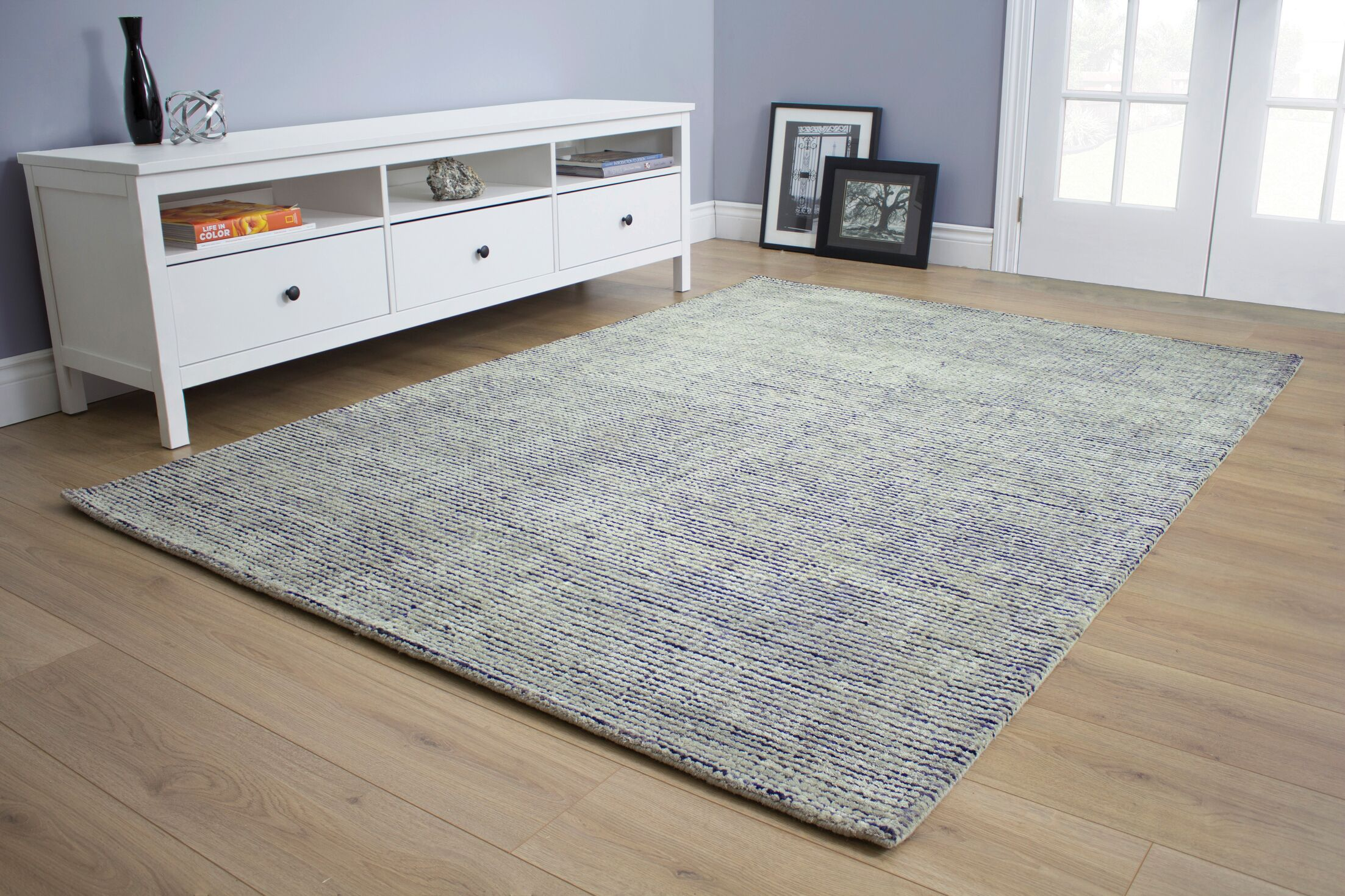 Christiana Tight Loop Gray Area Rug Rug Size: 7'10