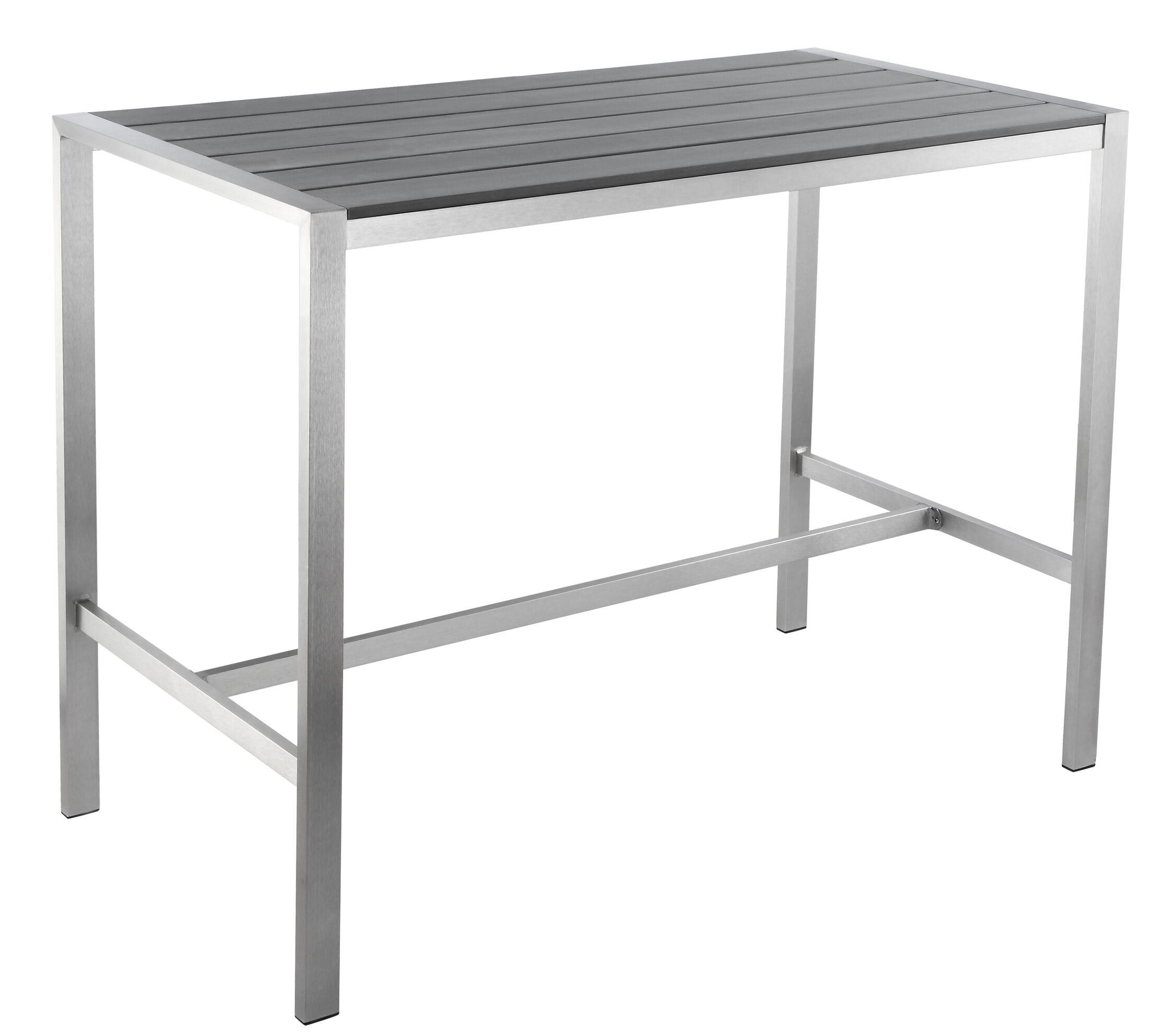 Lola Bar Table Finish: Grey