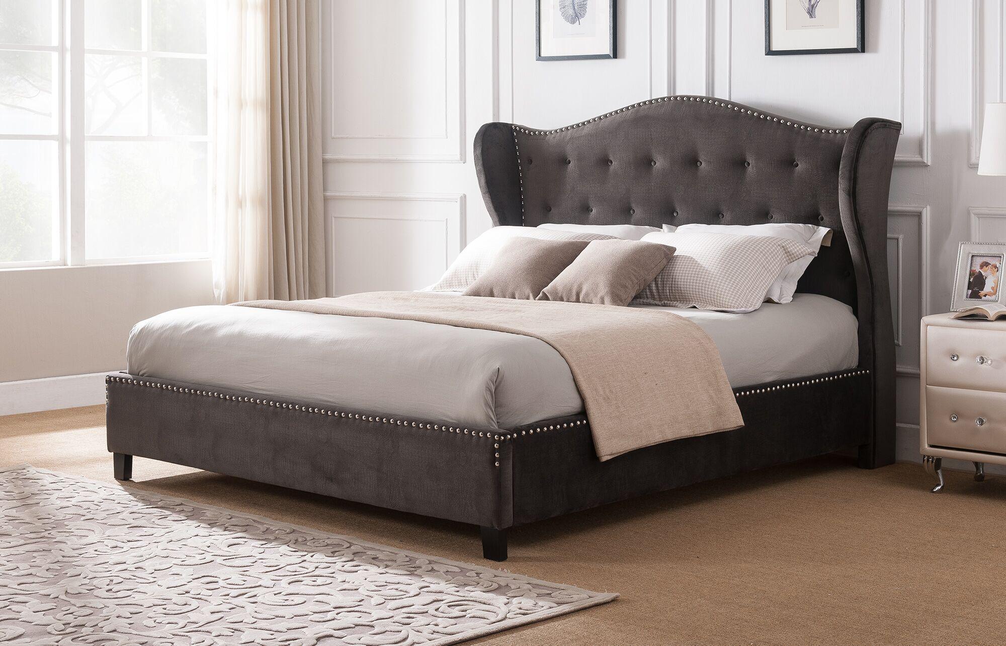 Clendon Wing Back Upholstered Platform Bed Size: Eastern King