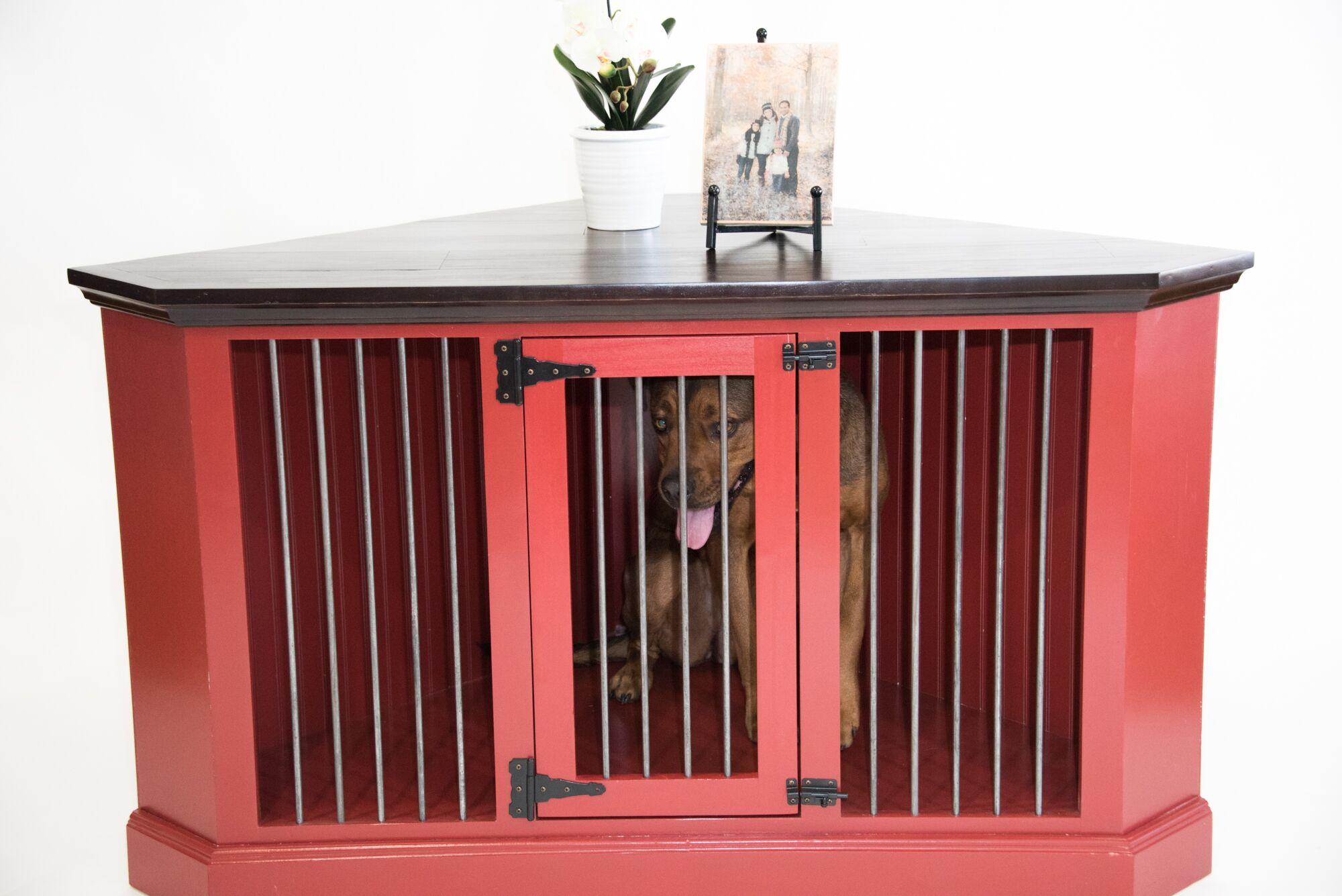 Brooke Medium Corner Credenza Pet Crate