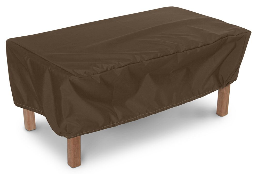 Weathermax� Rectangular Ottoman/Small Table Cover Color: Chocolate, Size: 15