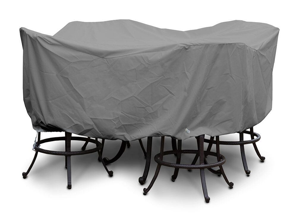 Weathermax� Large Bar Set Cover with Umbrella Hole Color: Grey