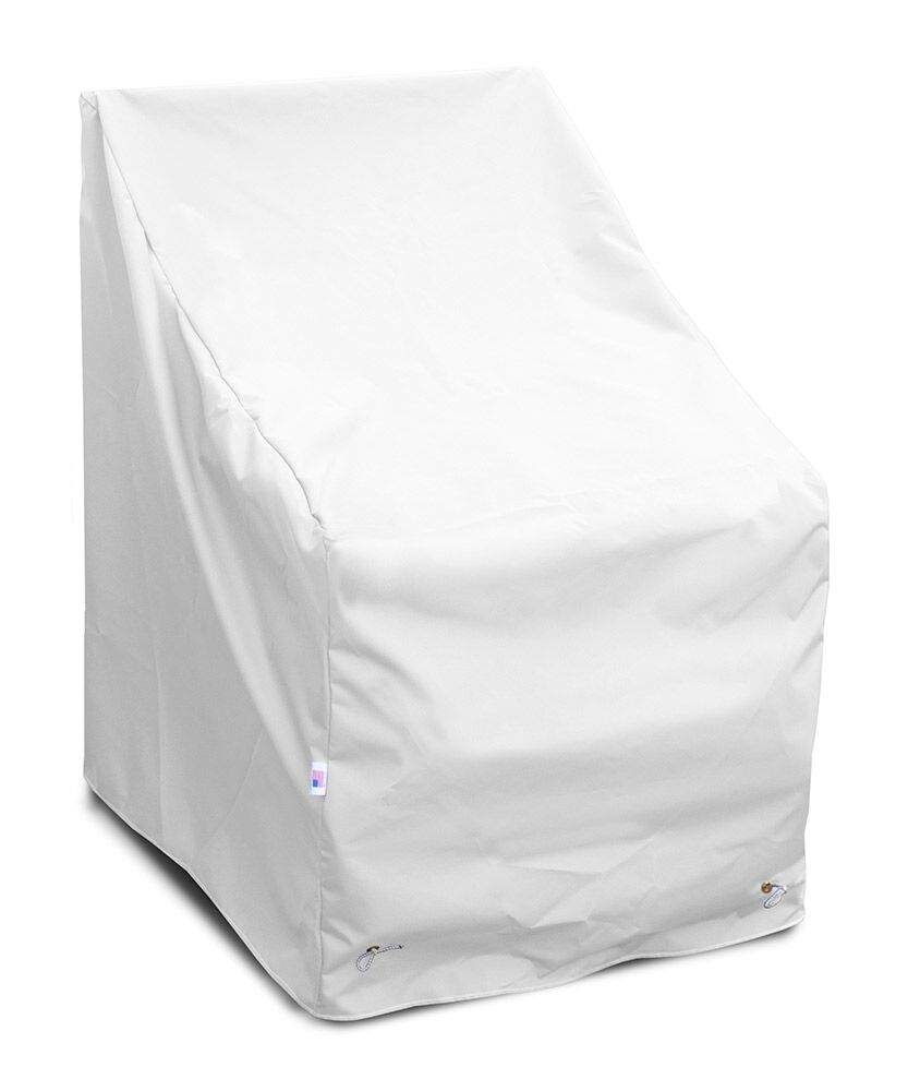 Weathermax� High Back Lounge Chair Cover Color: White