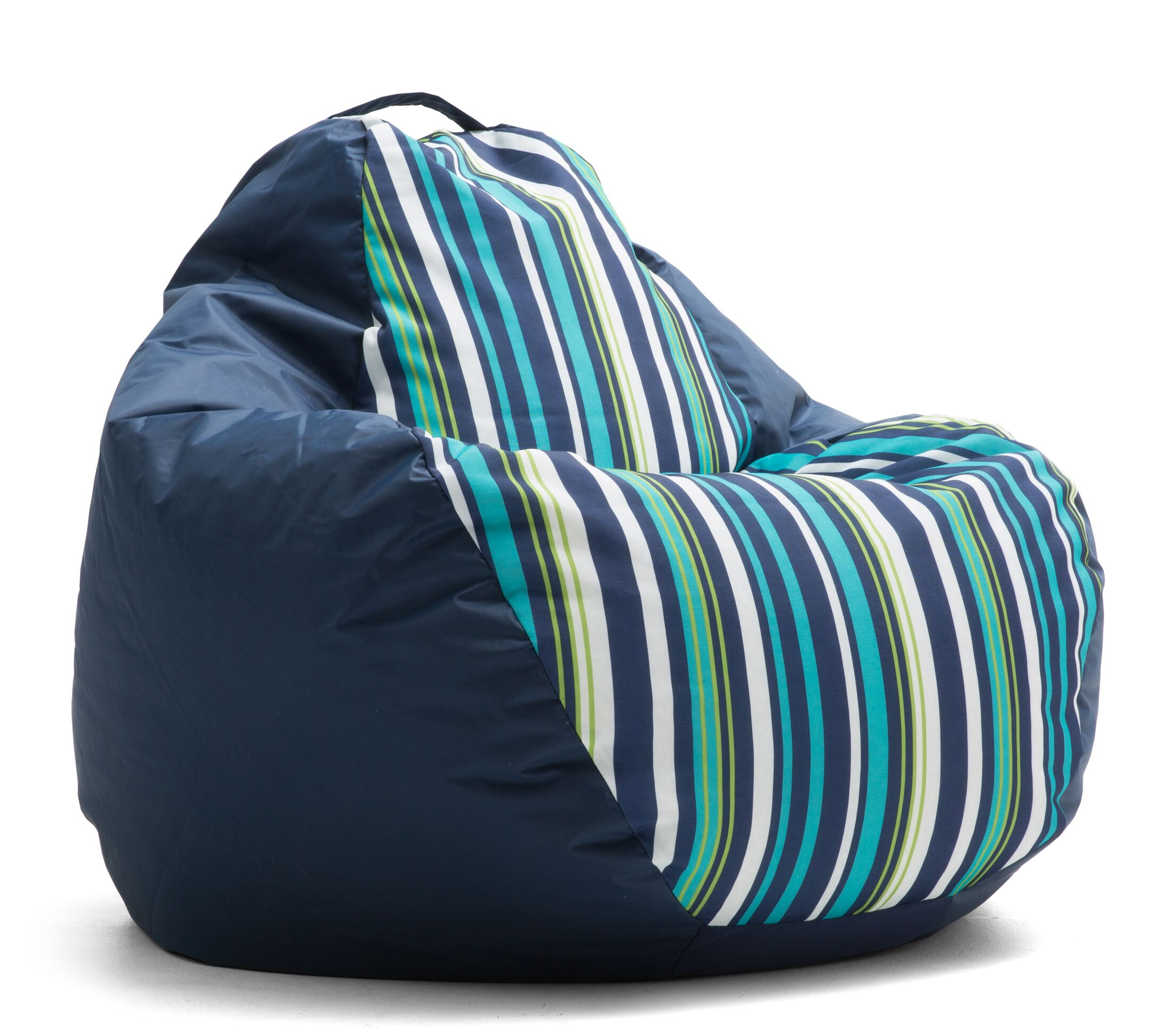 Big Joe Outdoor Teardrop Cozumel Stripe Bean Bag Chair Upholstery: Cool