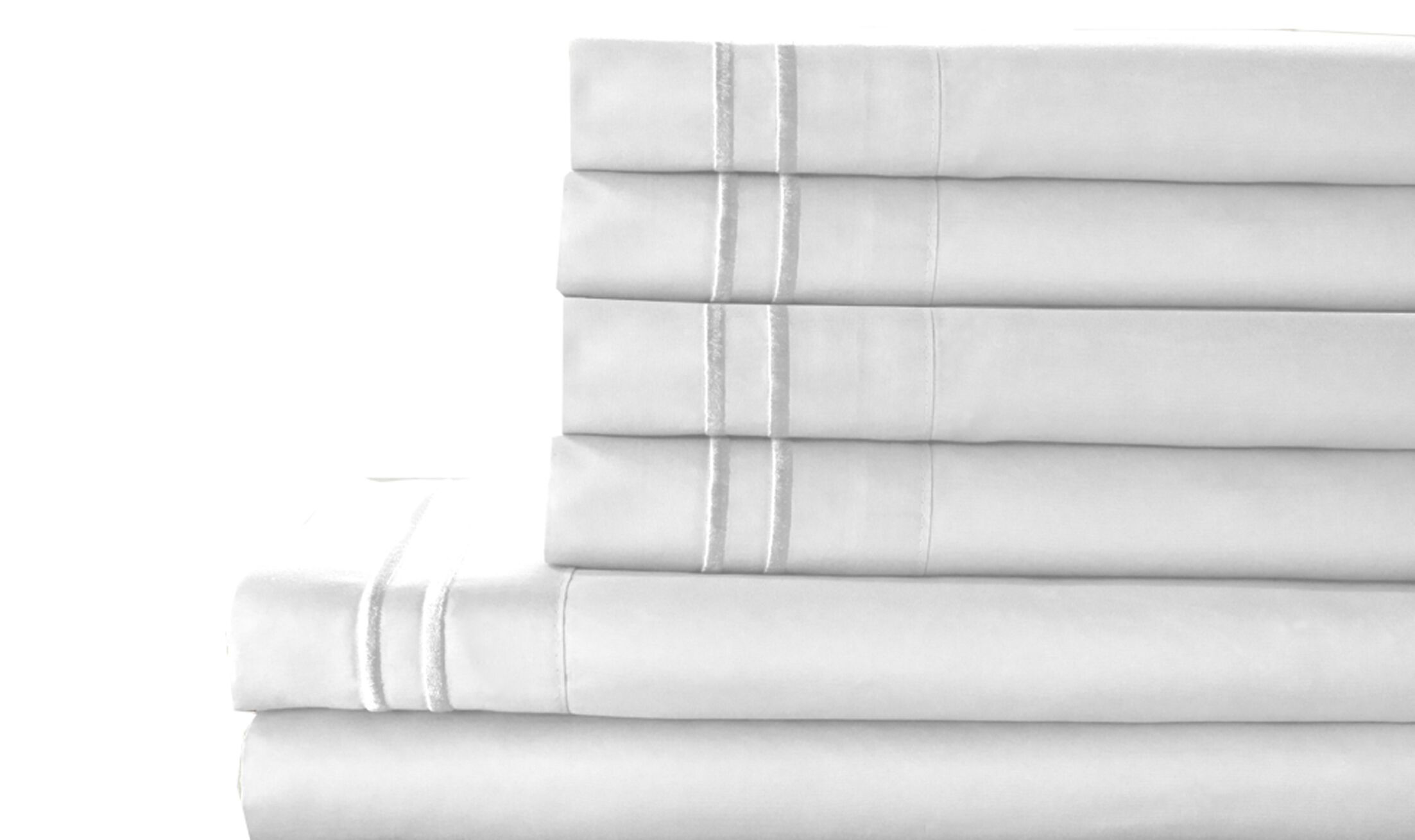 Tracy Sheet Set Color: White, Size: Full
