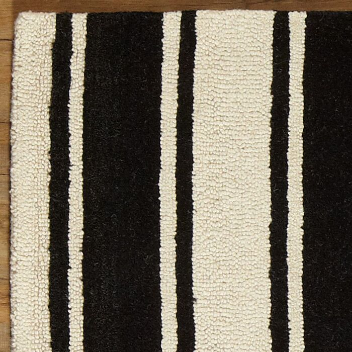 Tenley Black & White Rug Rug Size: Rectangle 8' x 10'