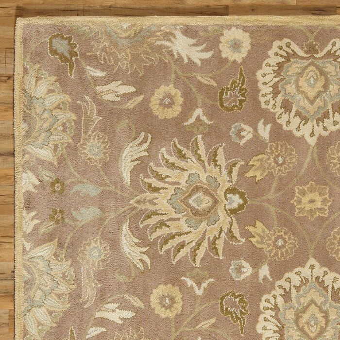 Phoebe Hand Tufted Wool Capuccino Rug Rug Size: Square 8'