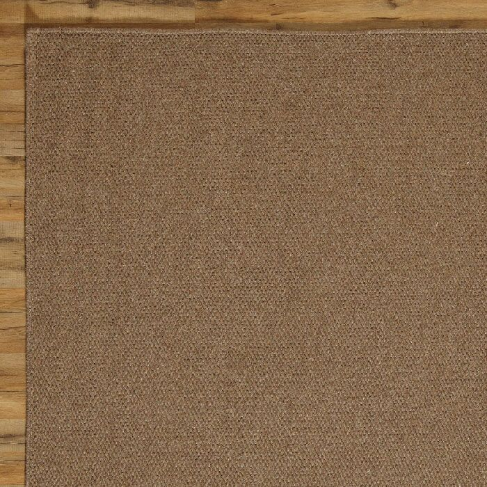 Ava Solid Rug, Chocolate Rug Size: Rectangle 8' x 10'
