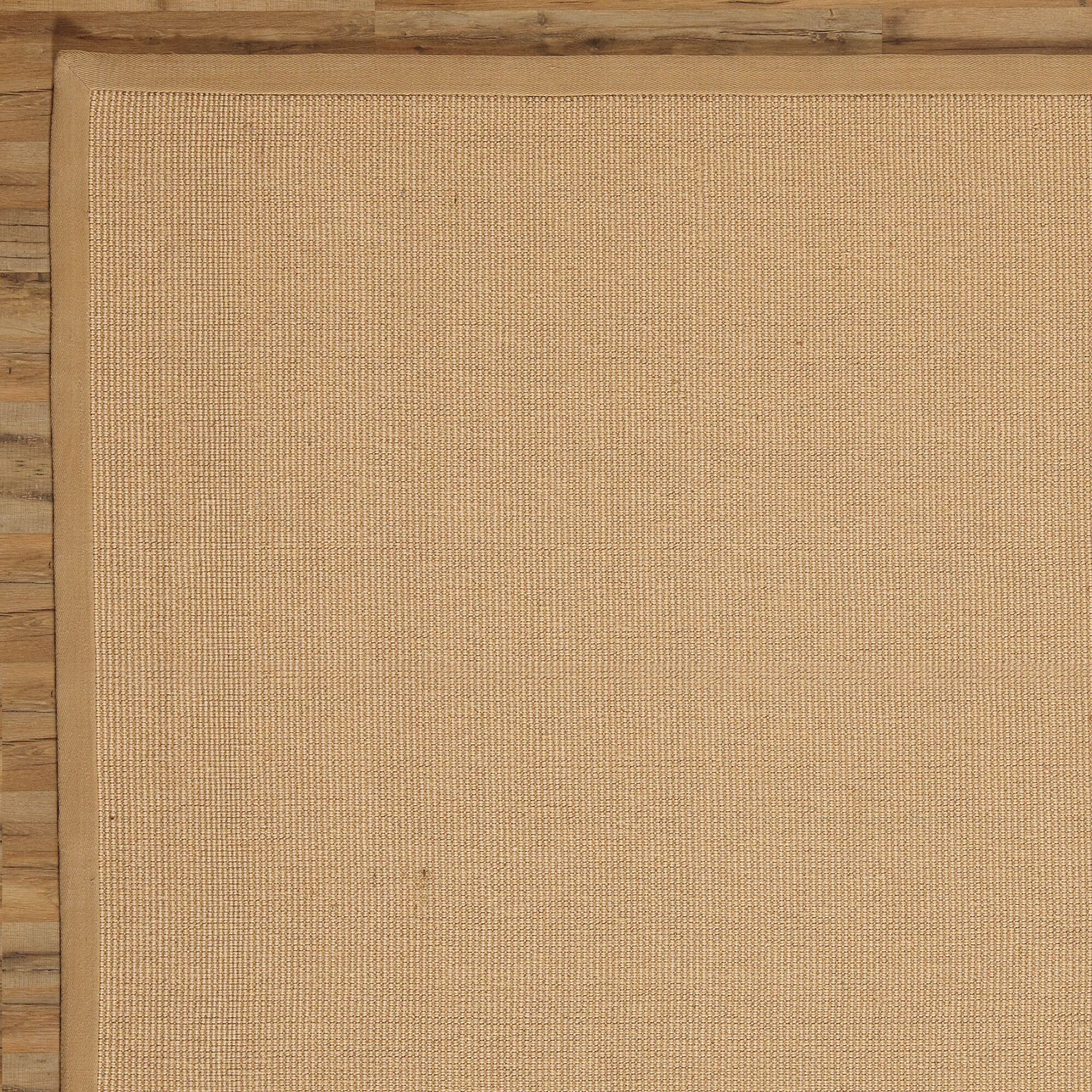 Sasha Hand-Woven Jute Natural Area Rug Rug Size: Rectangle 8' x 10'