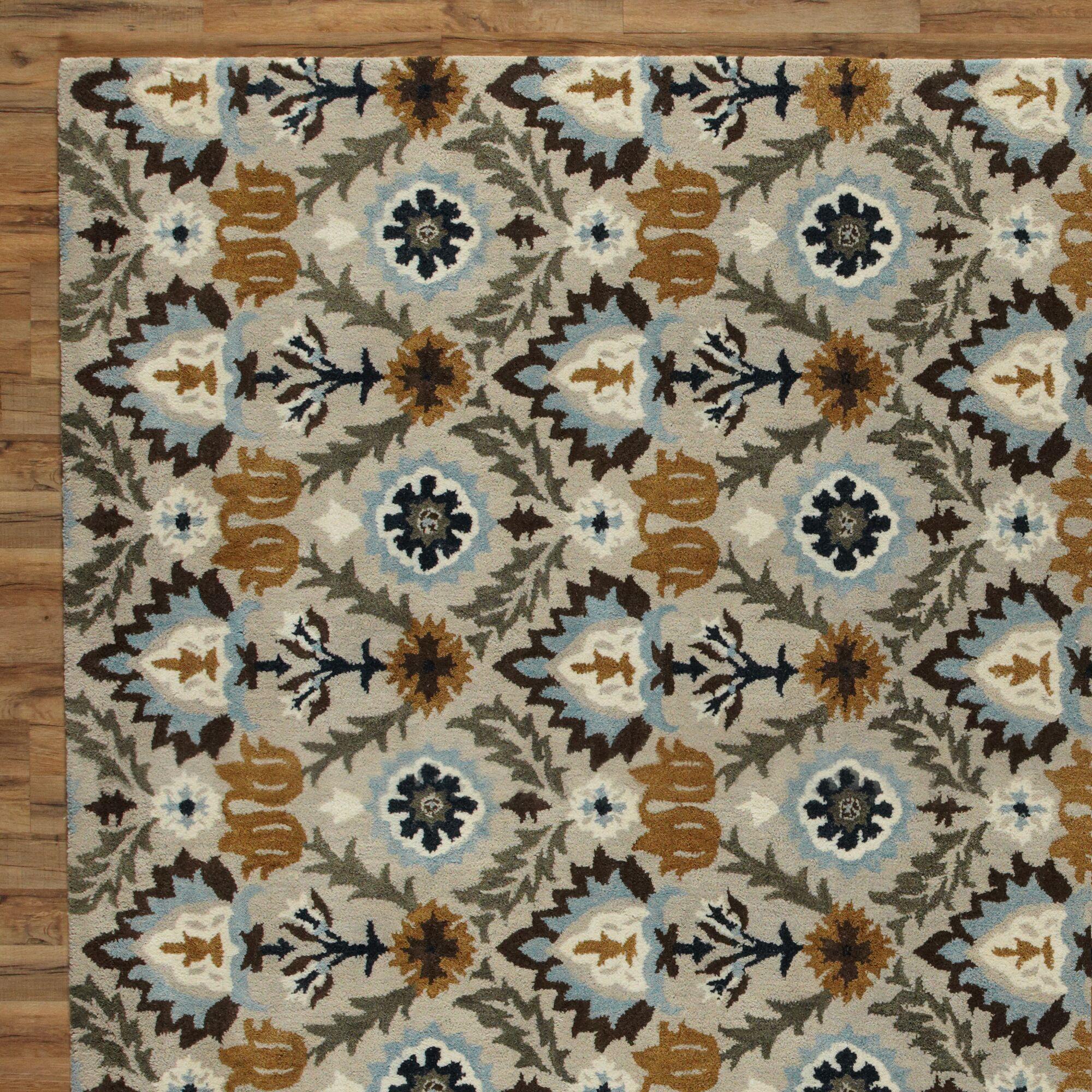 Devon Blue & Parchment Rug Rug Size: Rectangle 5' x 8'