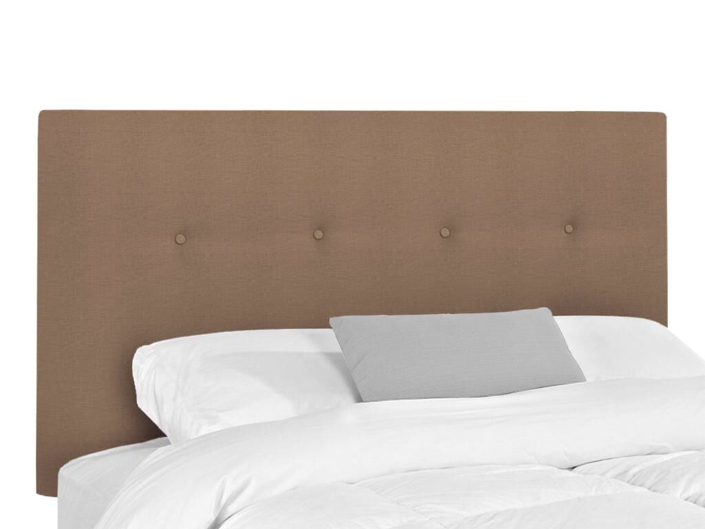 Victor Upholstered Headboard Upholstery: Lizzy Hemp, Size: King