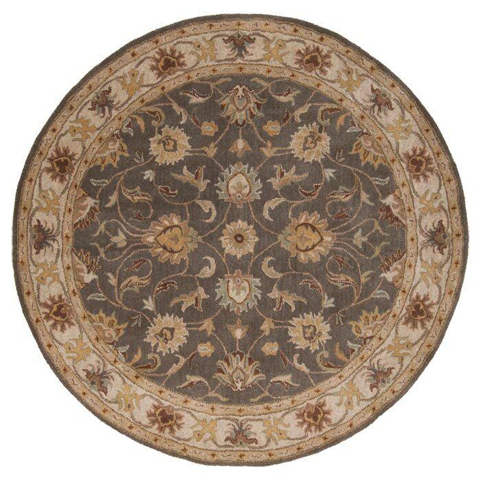 Arden Sage Hand-Woven Wool Area Rug Rug Size: Round 6'