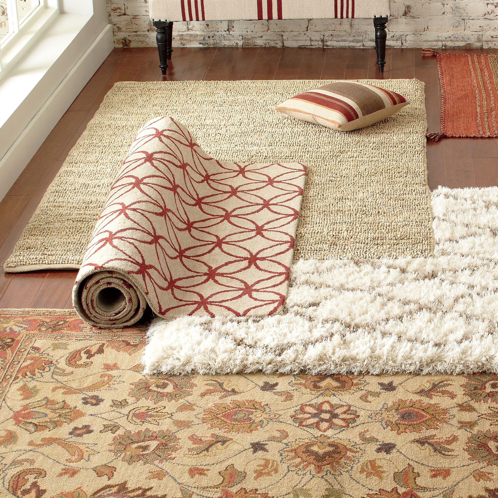 Hadley Hand Woven Natural/Turtledove Area Rug Rug Size: Rectangle 2'6
