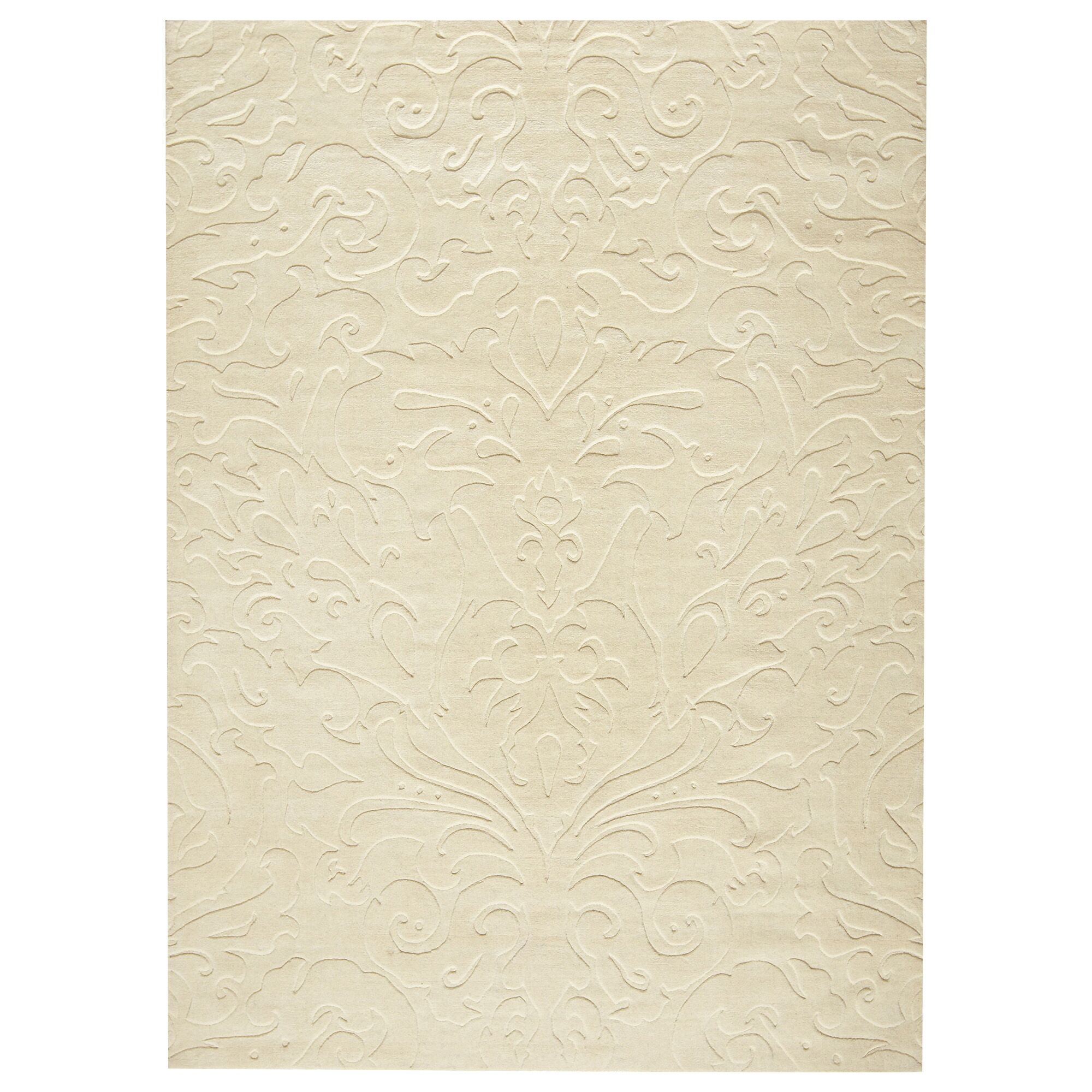 Ella Parchment Hand-Woven Area Rug Rug Size: Rectangle 8' x 11'