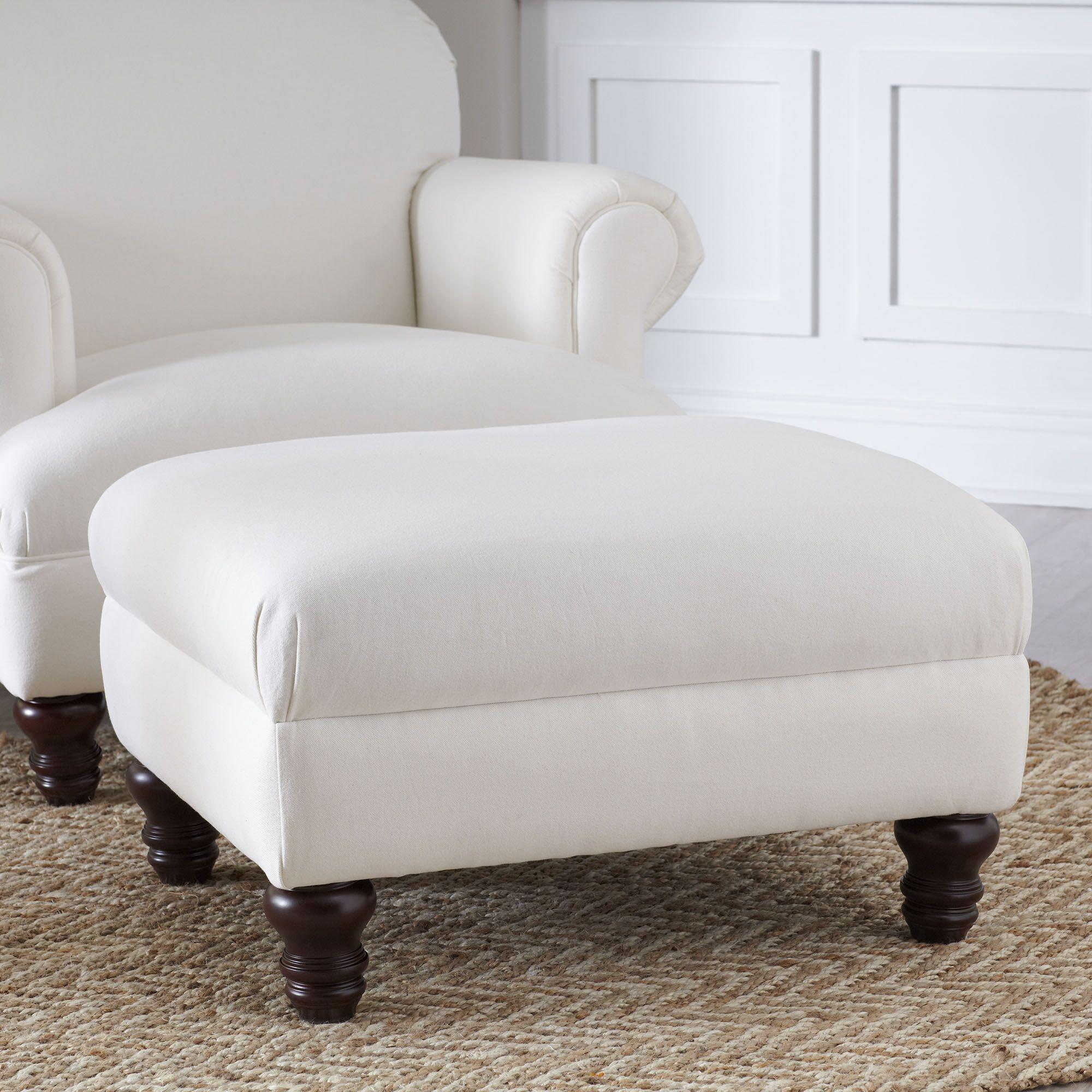 Murphy Ottoman Upholstery: Dunagen Ocean