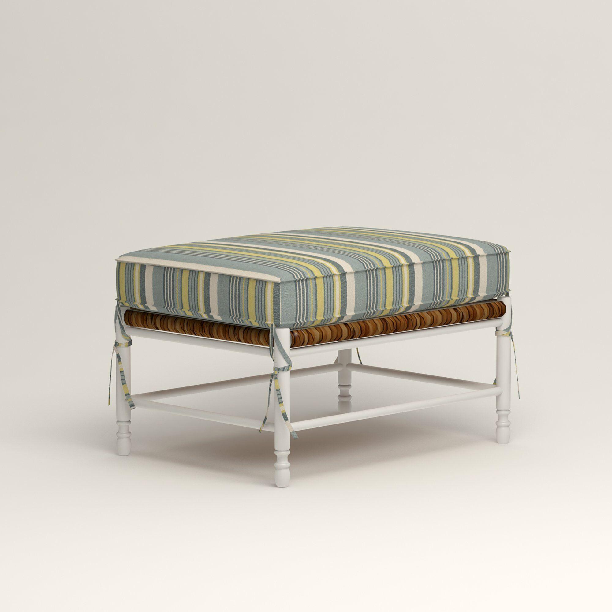 Stephanie Ottoman Upholstery: Tibby Pewter