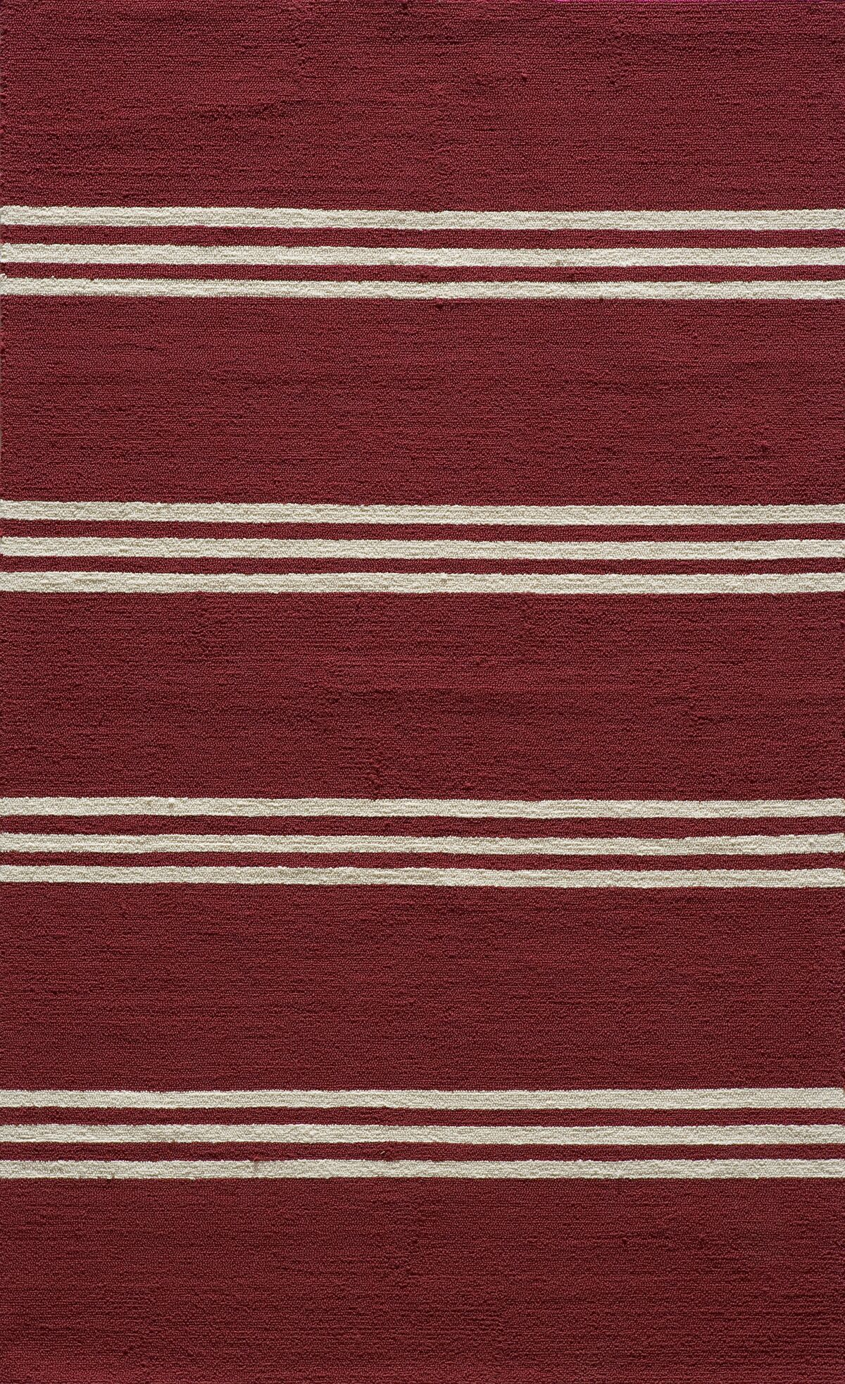 Dreadnought Hand-Hooked Red Area Rug Rug Size: Rectangle 5' x 8'