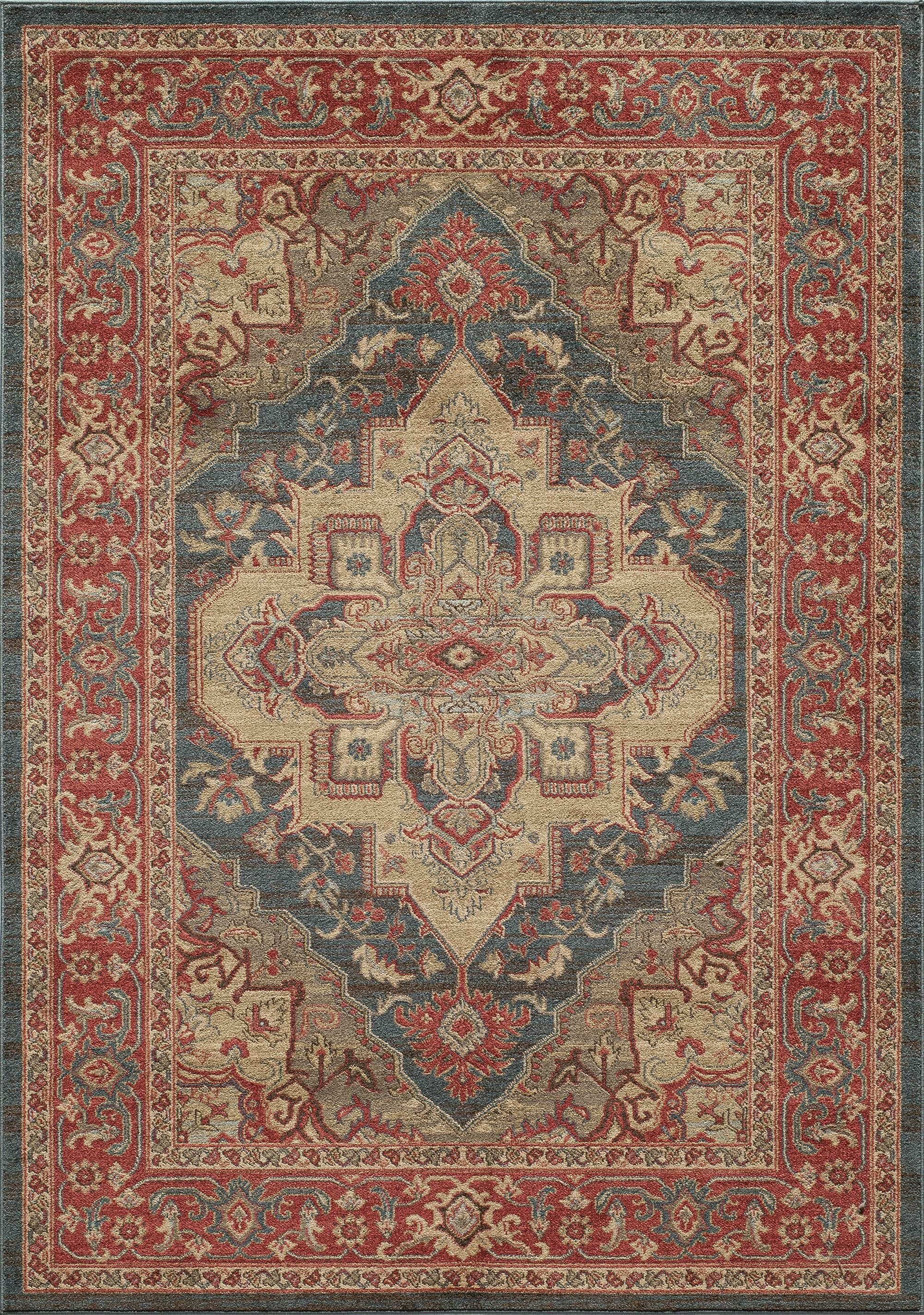 Othello Red Area Rug Rug Size: Rectangle 5'3